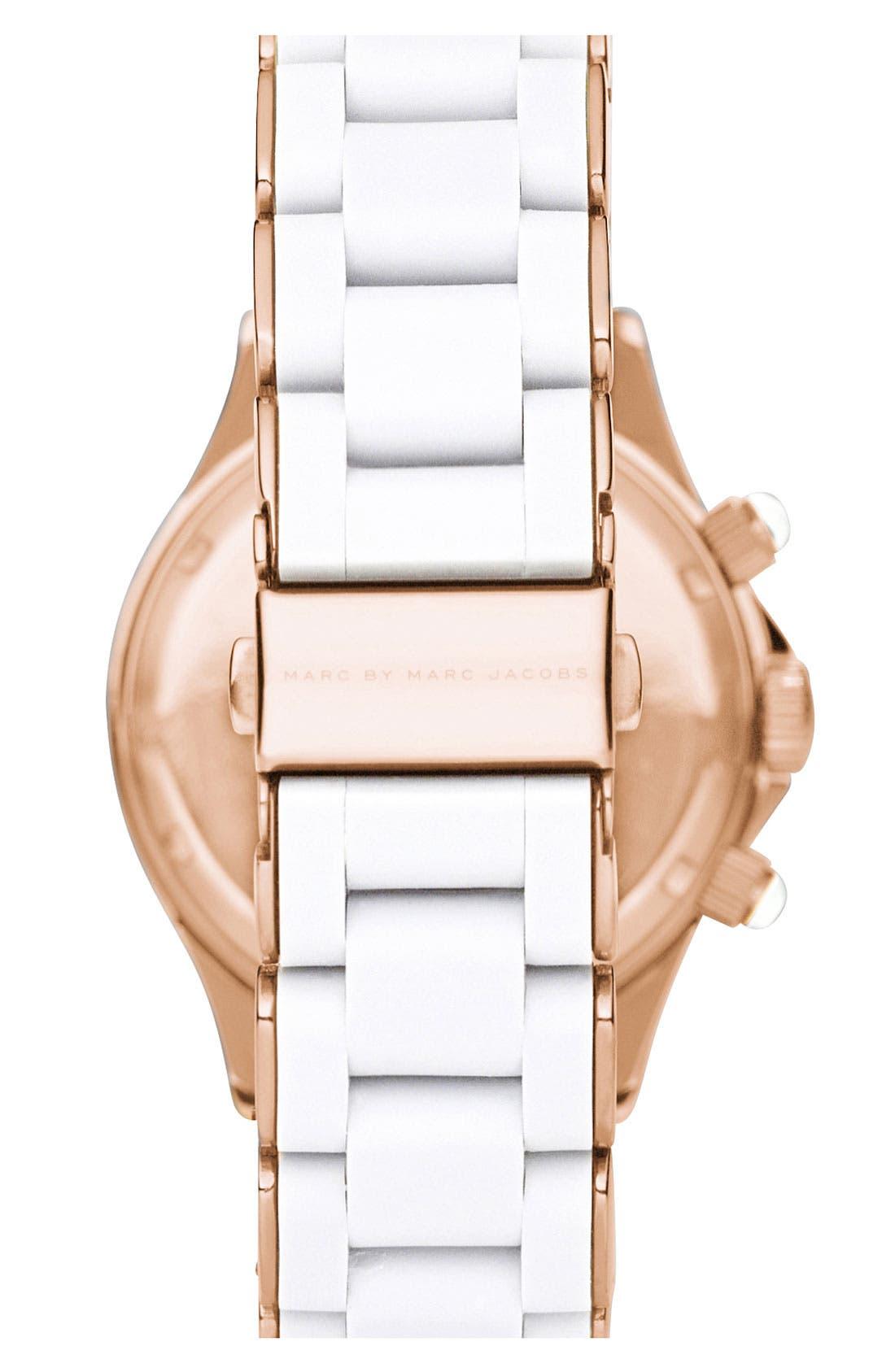 'Rock' Chronograph Silicone Bracelet Watch, 40mm,                             Alternate thumbnail 23, color,