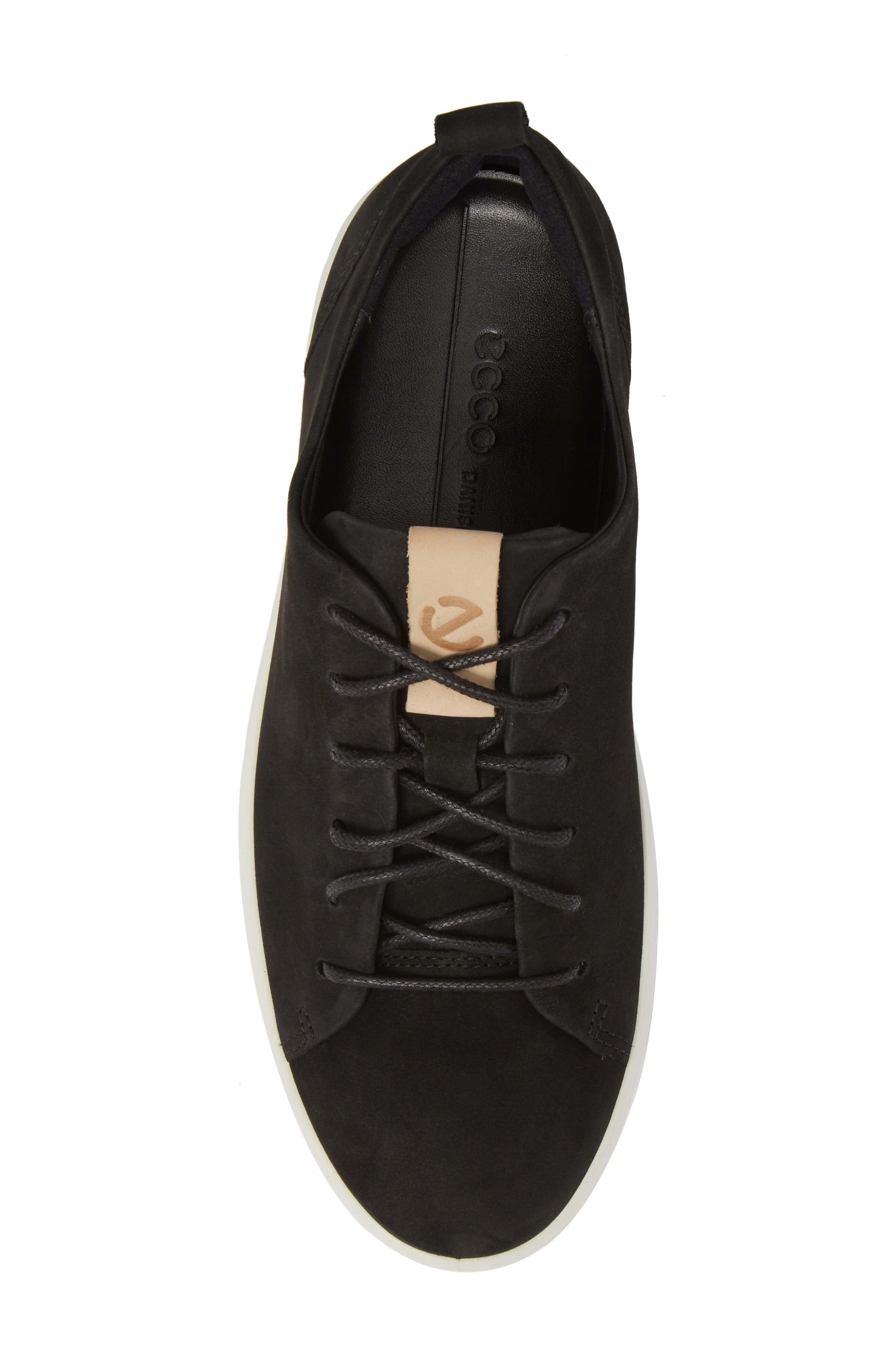Soft 8 Sneaker,                             Alternate thumbnail 5, color,                             BLACK POWDER LEATHER