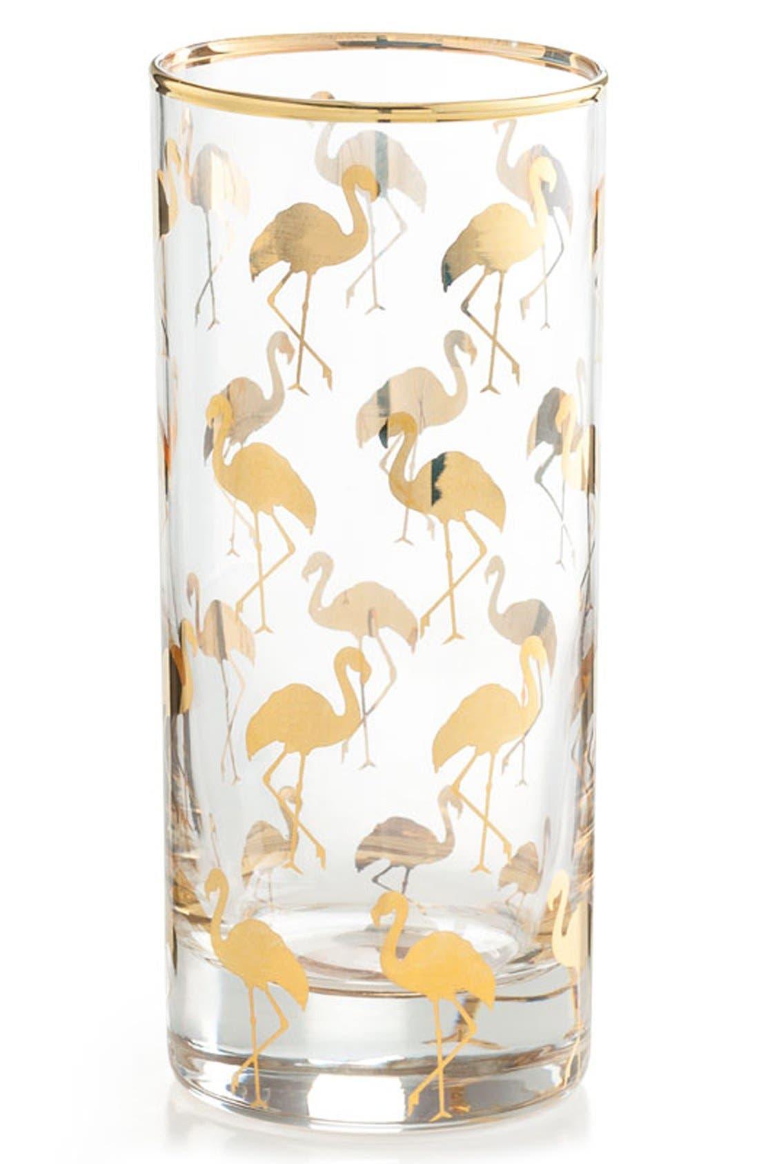 Flamingo Highball Glasses,                             Main thumbnail 1, color,                             710