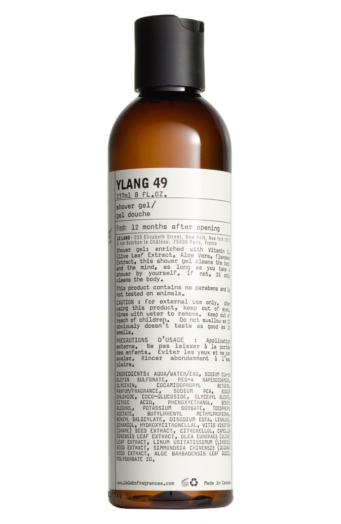 'Ylang 49' Shower Gel,                             Main thumbnail 1, color,                             000