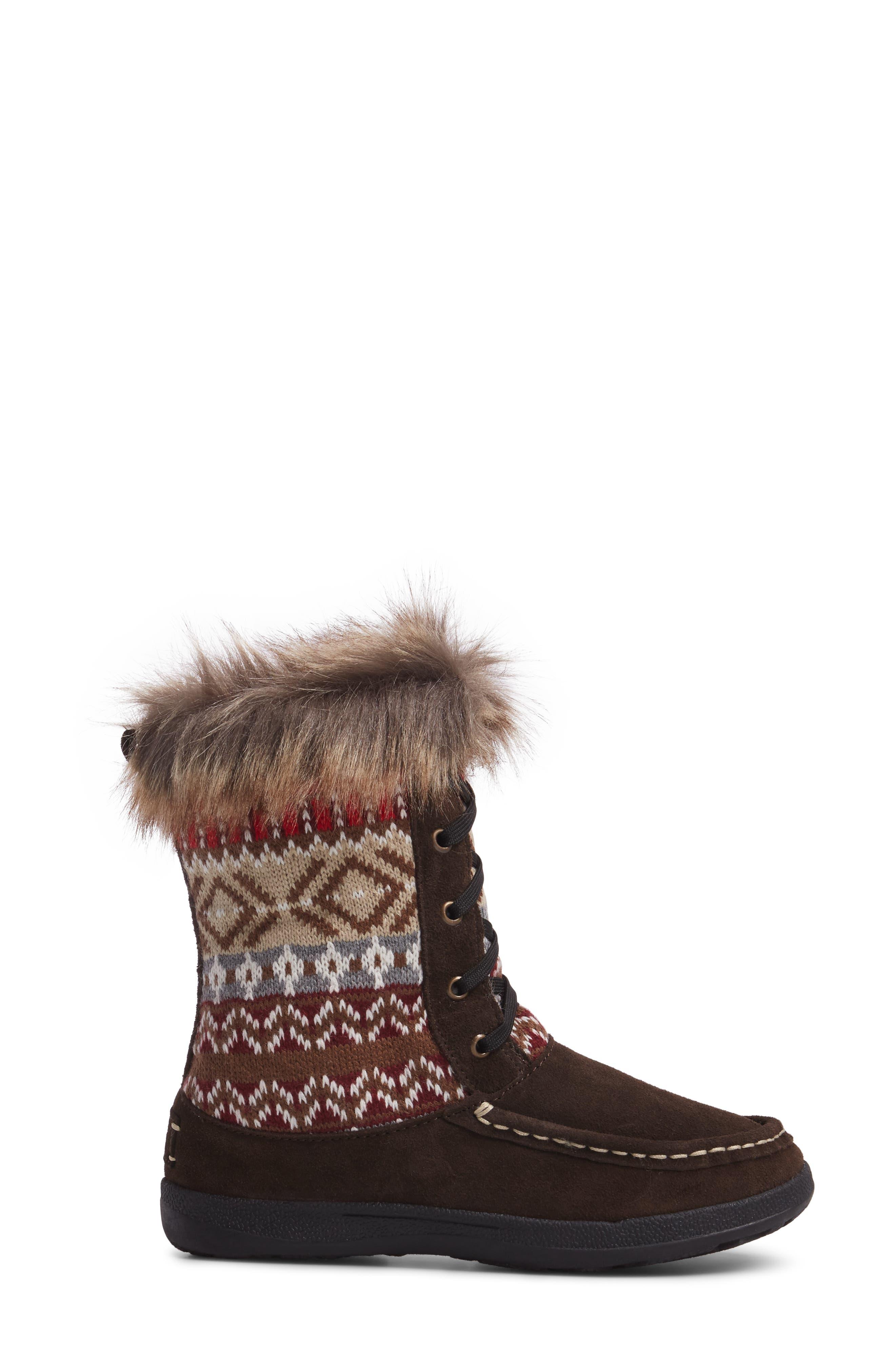 Doe Creek II Faux Fur Trim Boot,                             Alternate thumbnail 8, color,