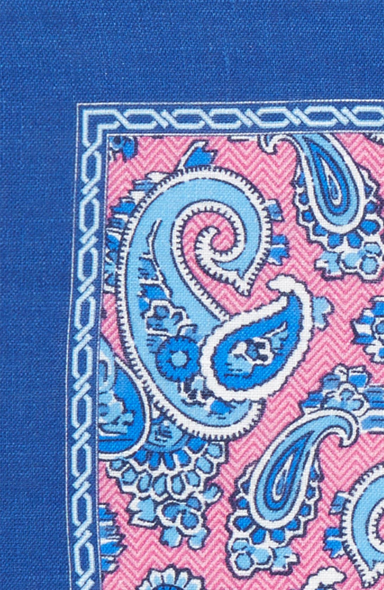 Paisley Linen Pocket Square,                             Alternate thumbnail 11, color,