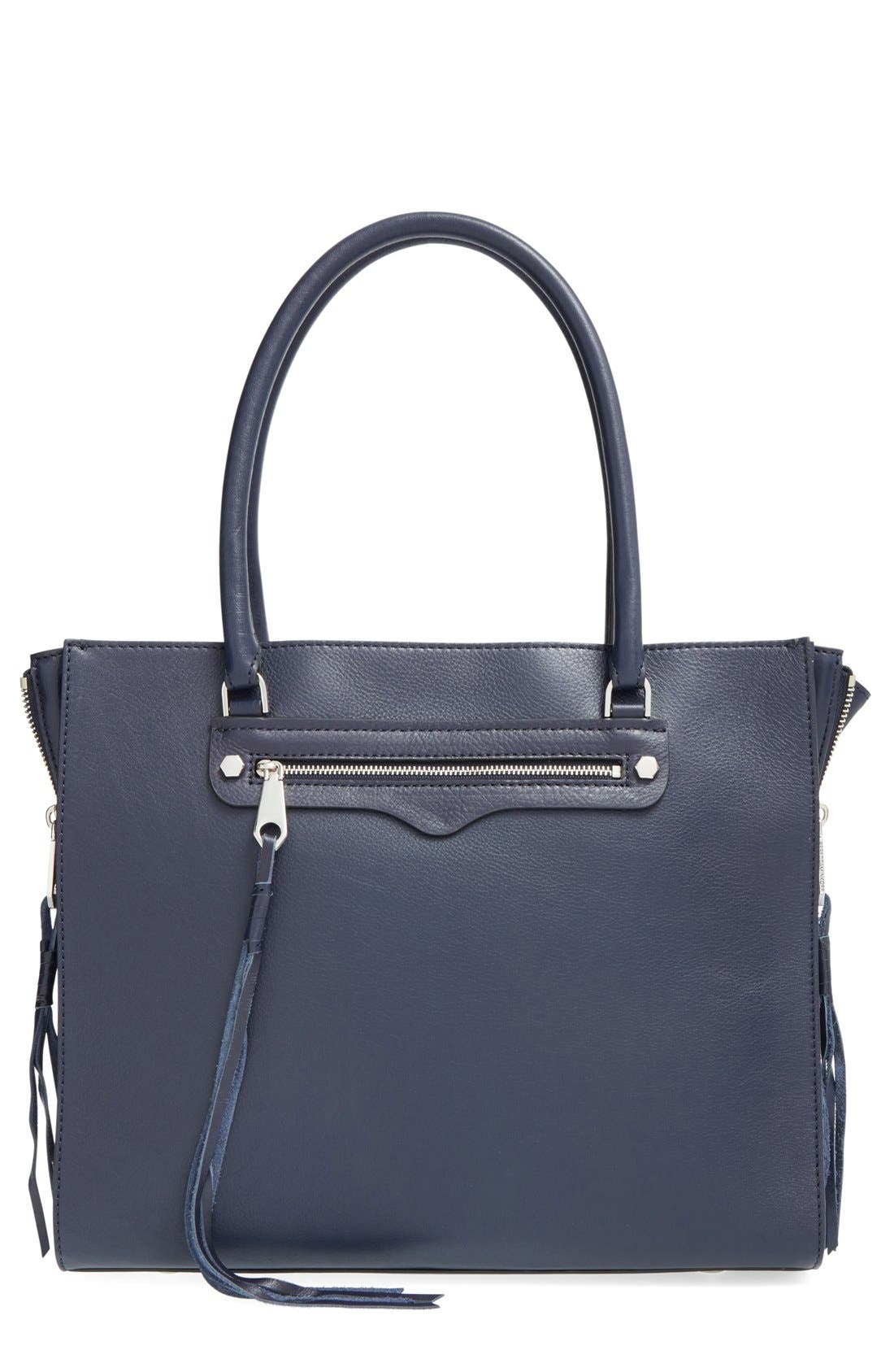 'Side Zip Regan' Tote,                             Main thumbnail 7, color,