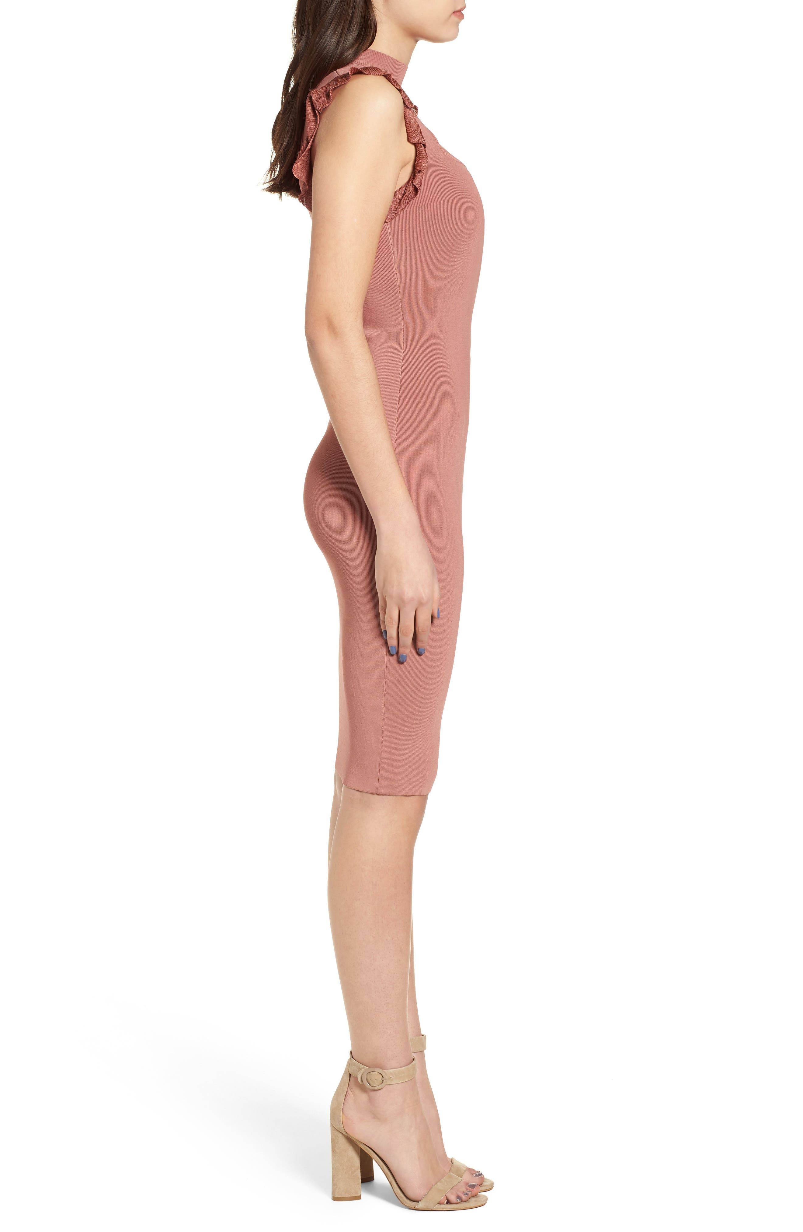 Bewitched Body-Con Dress,                             Alternate thumbnail 3, color,                             020