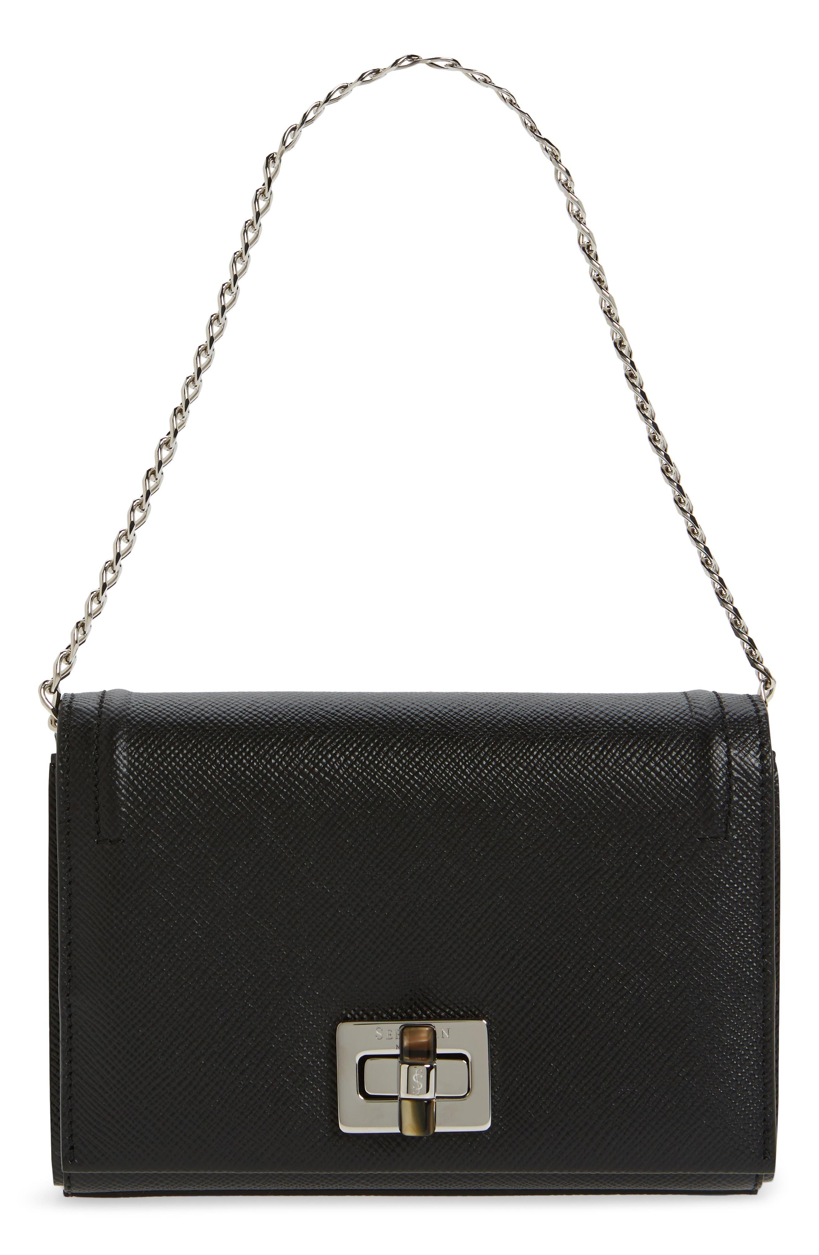 Mini Ilenea Leather Crossbody Bag,                             Alternate thumbnail 3, color,                             001