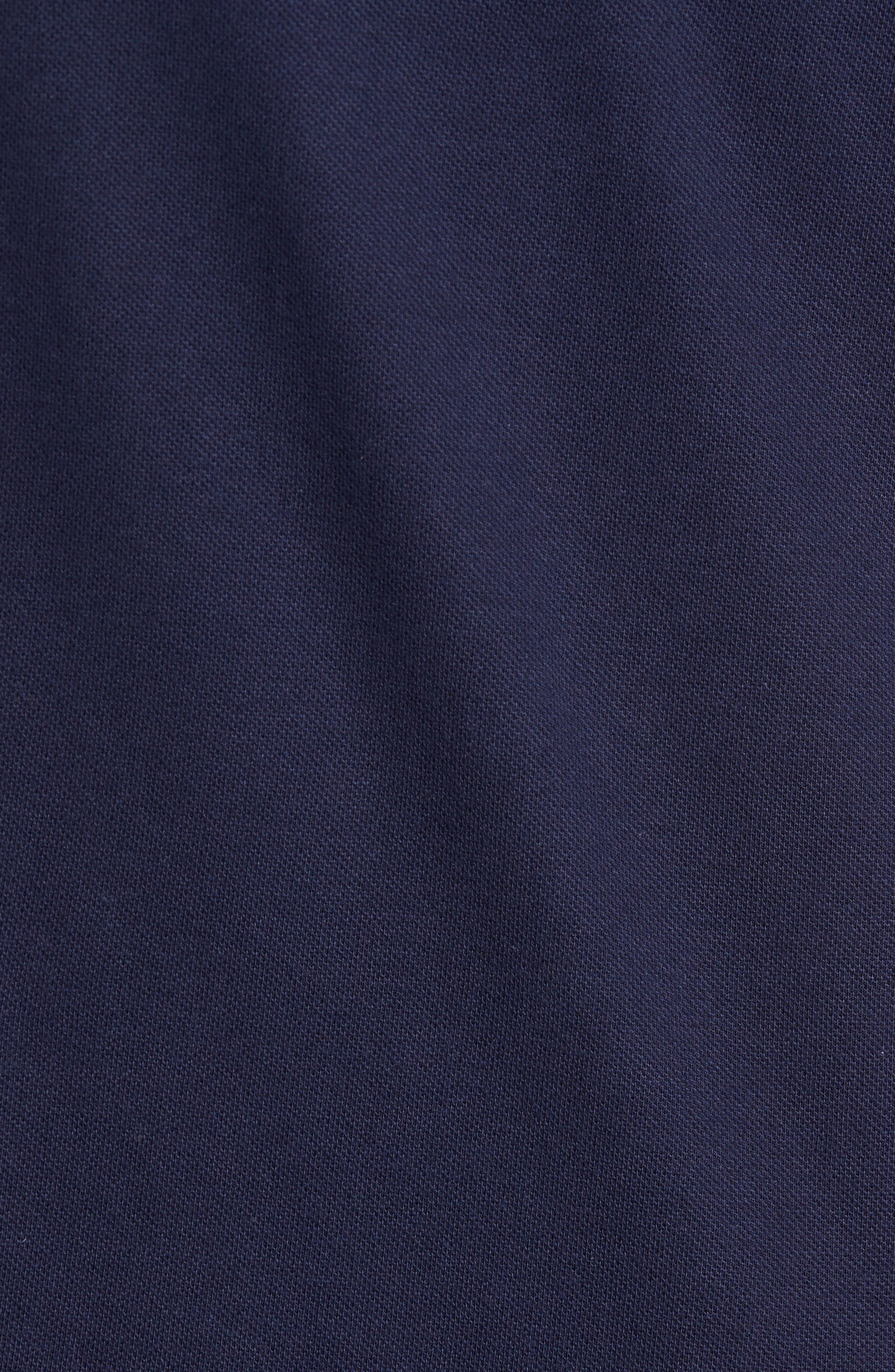 Moretti Short Sleeve Zip Henley Shirt,                             Alternate thumbnail 5, color,                             001