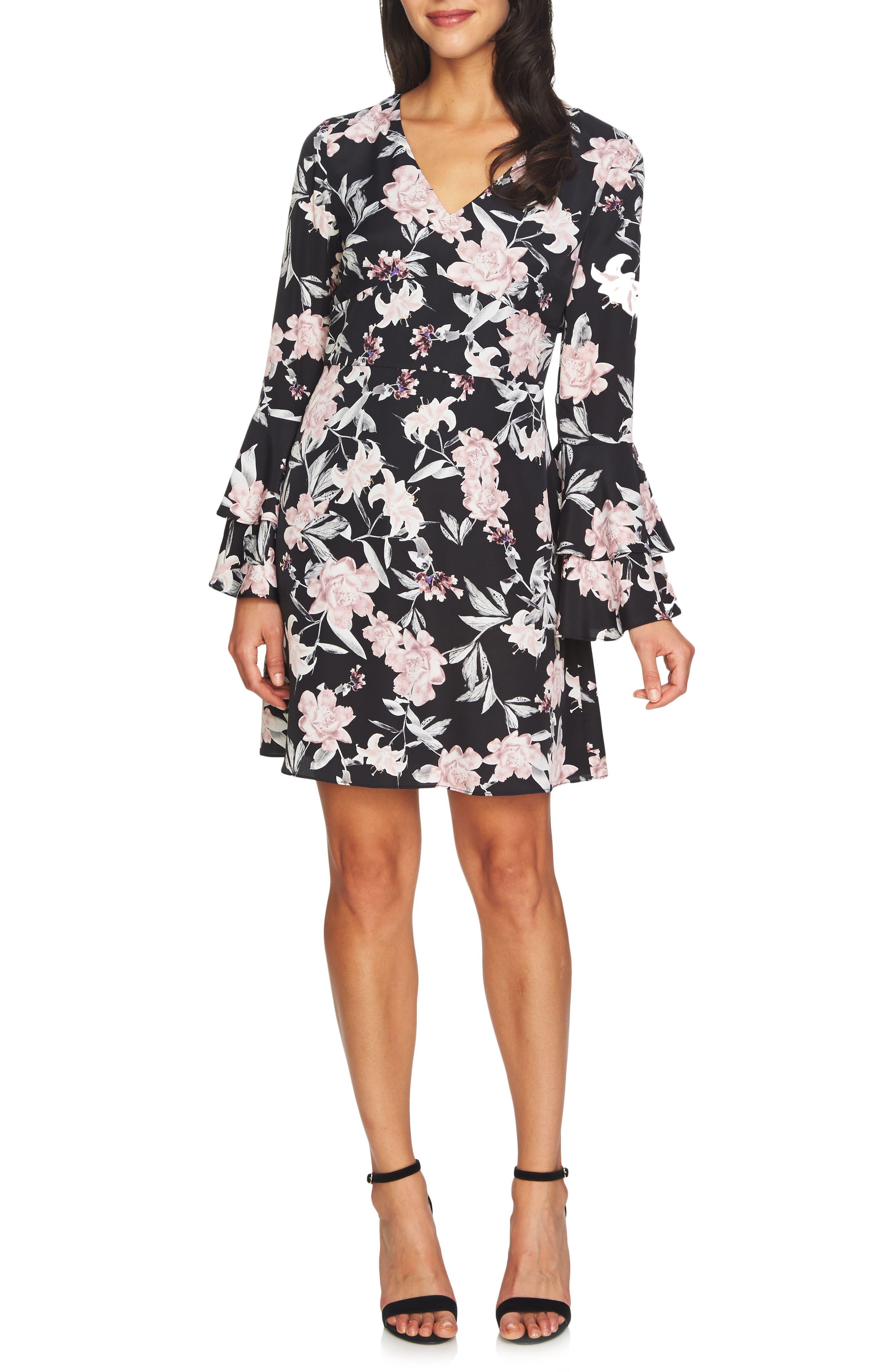 Eden Bell Sleeve Dress,                             Main thumbnail 1, color,                             060