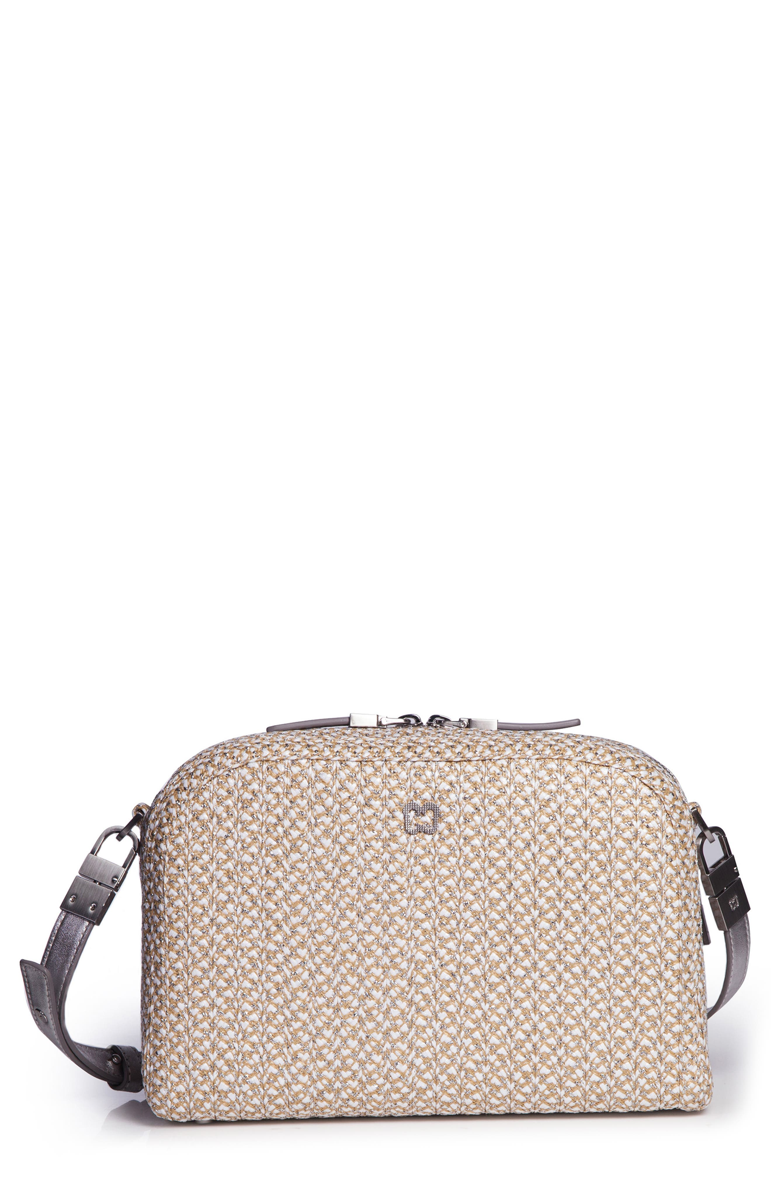 Squishee<sup>®</sup> Courbe Crossbody Bag,                         Main,                         color, FROST/ WHITE