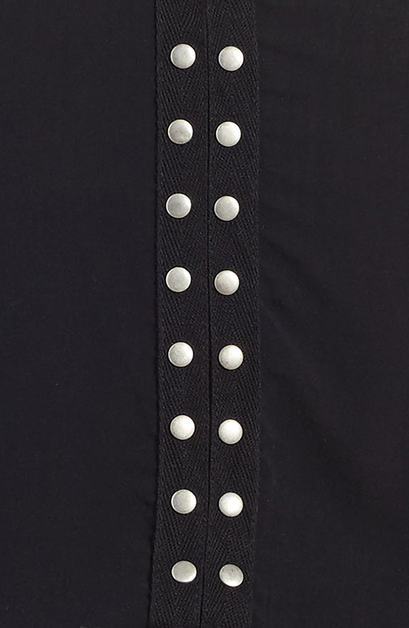 Grommet Cold Shoulder Dress,                             Alternate thumbnail 3, color,                             001