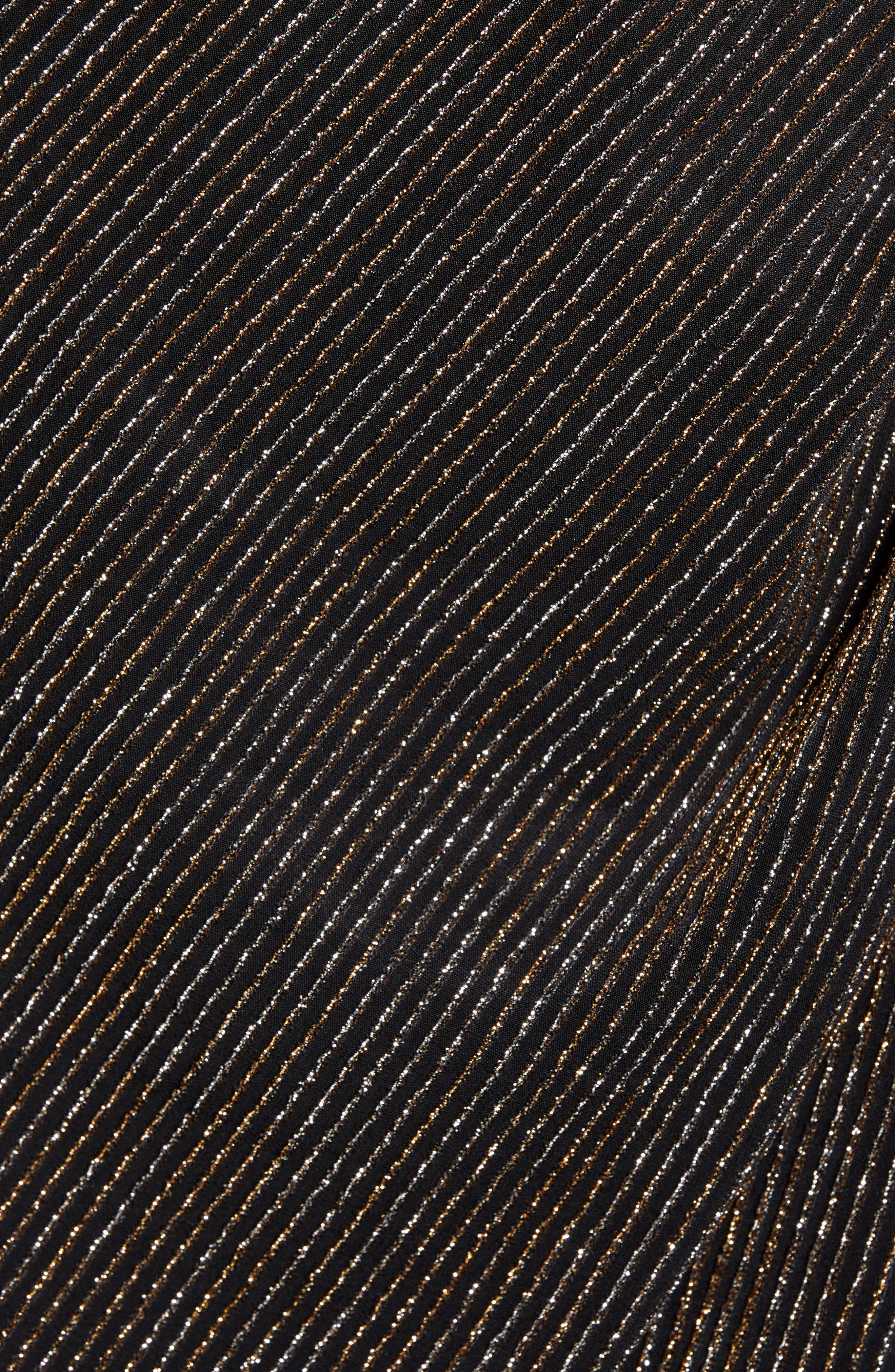 Metallic Sheath Dress,                             Alternate thumbnail 6, color,                             GOLD