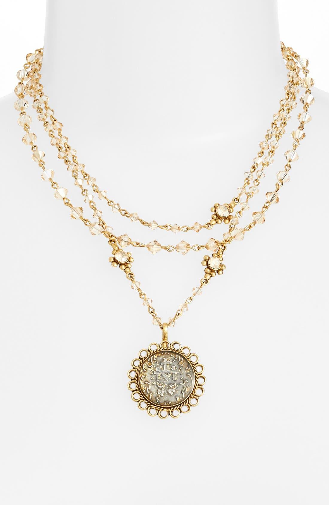 VIRGINS SAINTS & ANGELS 'Magdalena - San Benito' Necklace, Main, color, 710