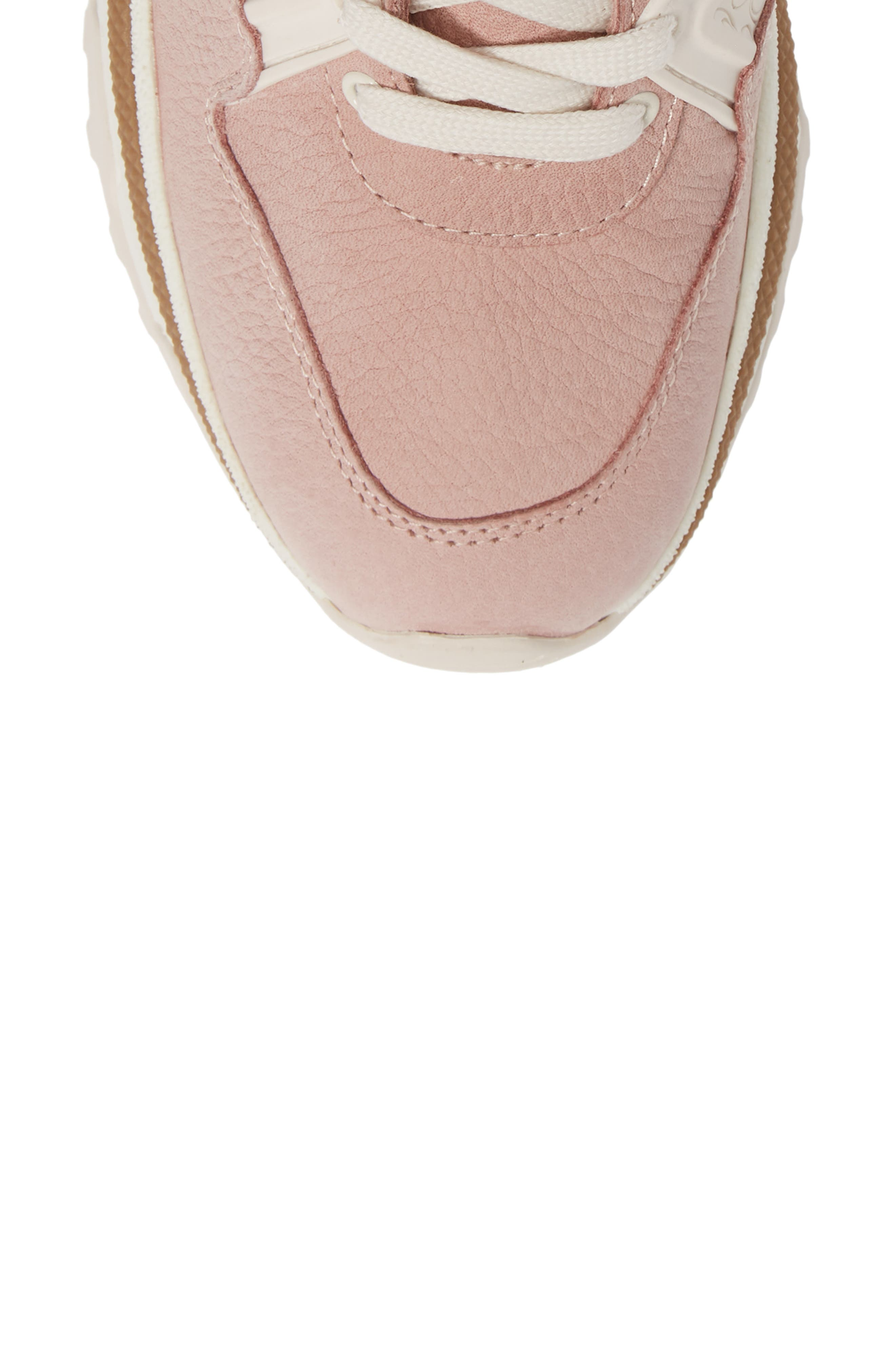 COACH,                             High Top Sneaker,                             Alternate thumbnail 5, color,                             BLUSH PINK NUBUCK LEATHER