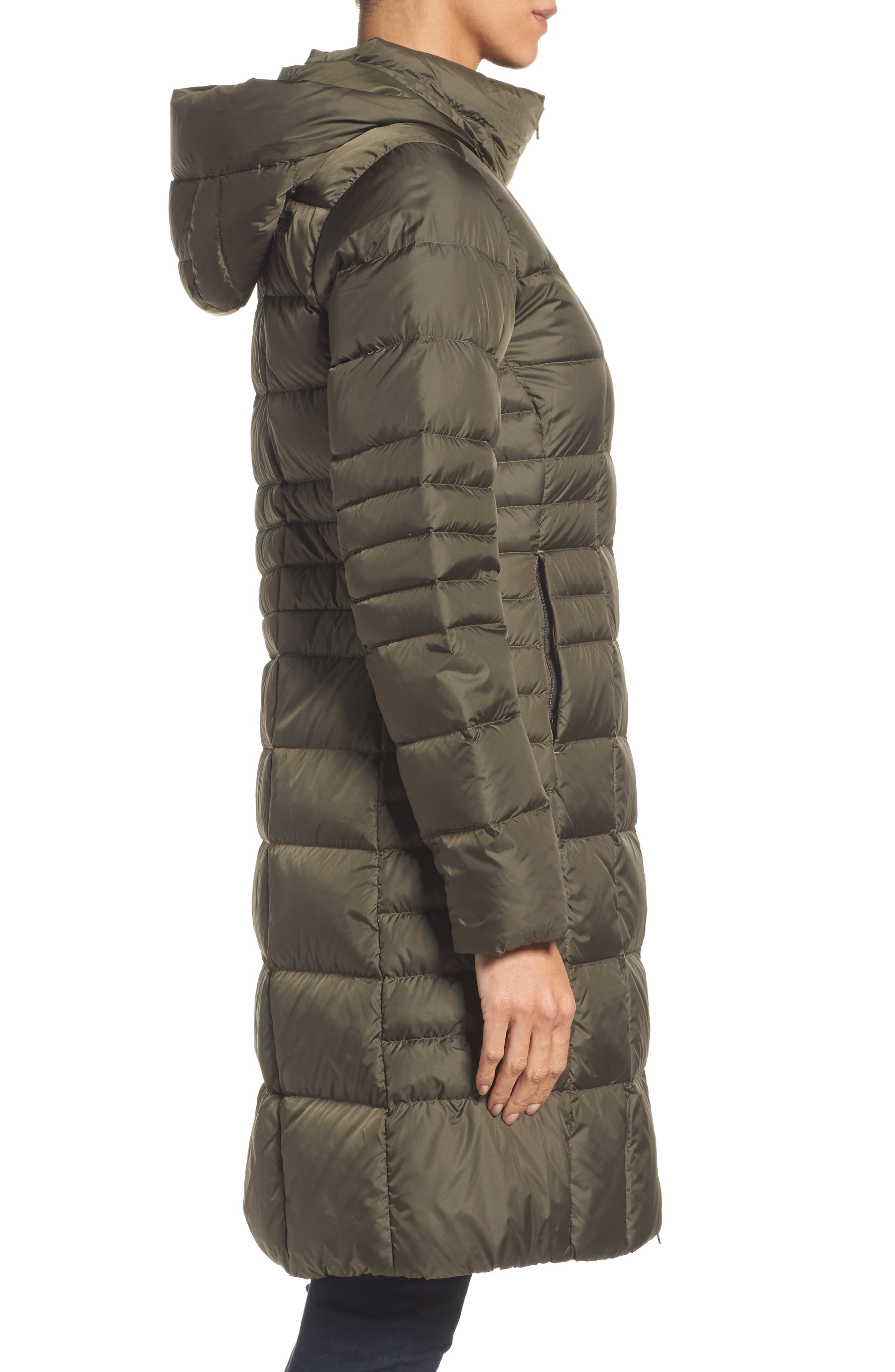 Metropolis II Hooded Water Resistant Down Parka,                             Alternate thumbnail 3, color,                             NEW TAUPE