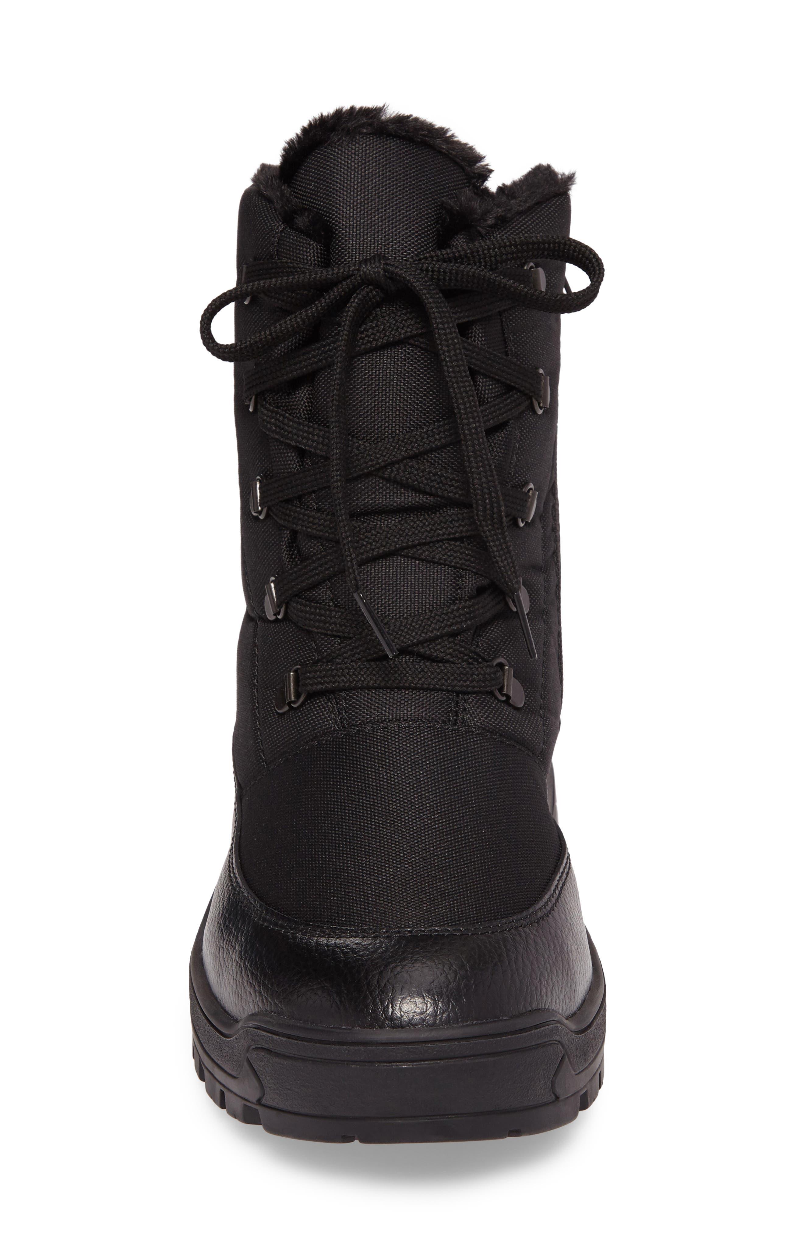 Trigger Winter Waterproof Boot,                             Alternate thumbnail 4, color,                             BLACK