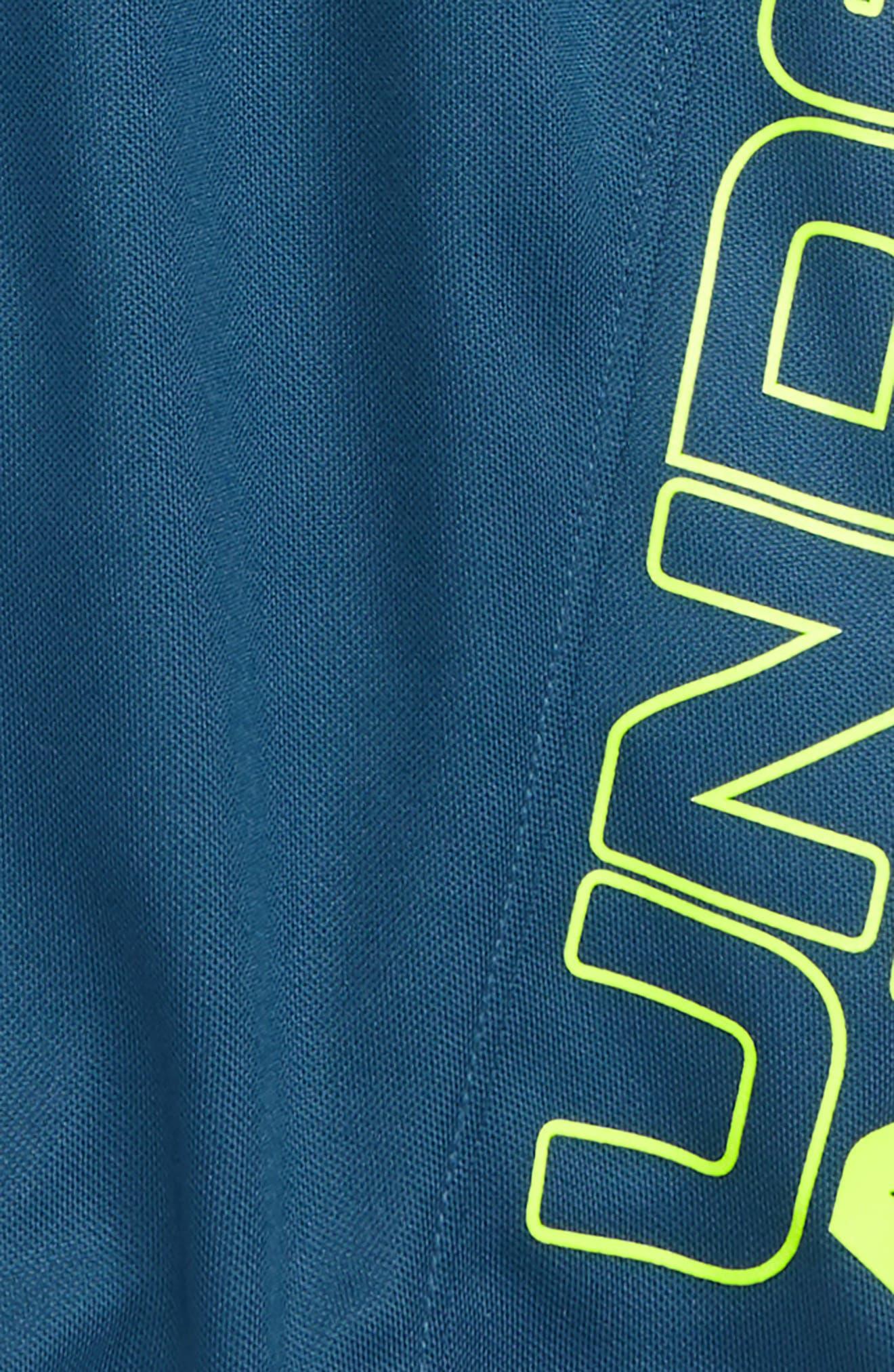 UNDER ARMOUR,                             Kick Off HeatGear<sup>®</sup> Athletic Shorts,                             Alternate thumbnail 2, color,                             PETROL BLUE