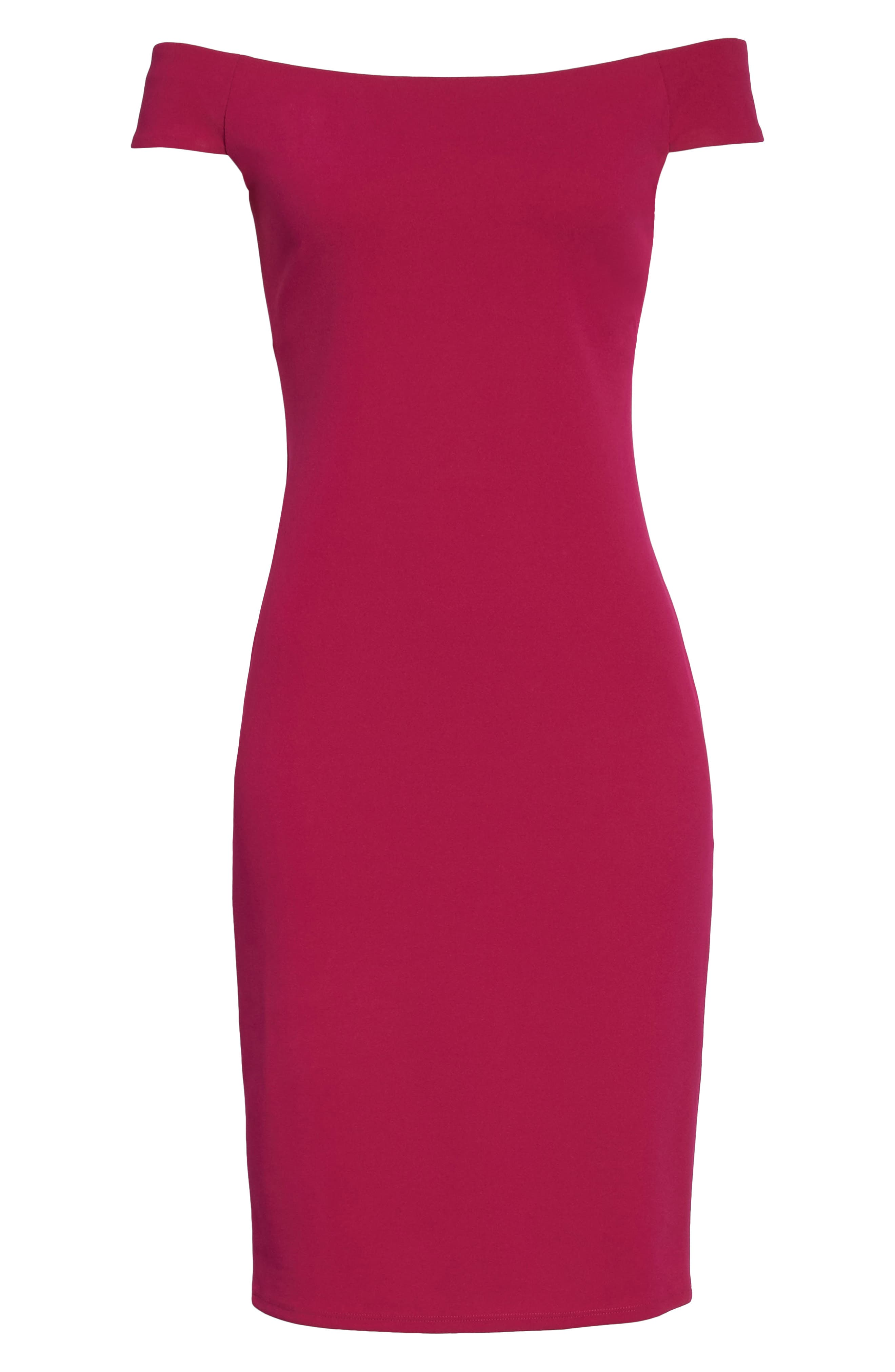 Off the Shoulder Sheath Dress,                             Alternate thumbnail 23, color,