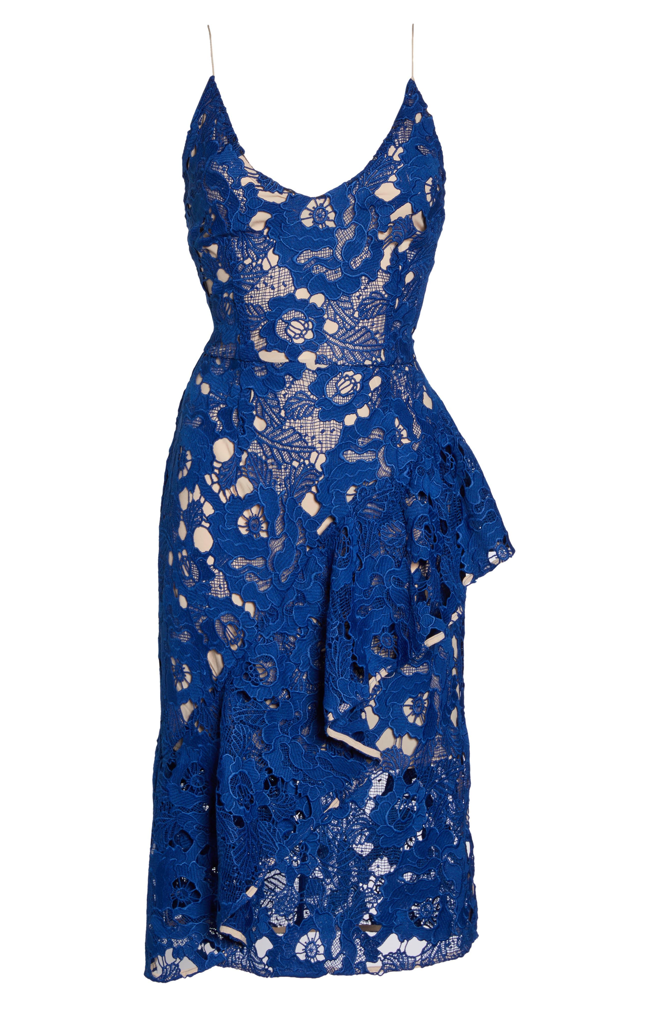 Sky Beauty Lace Ruffle Dress,                             Alternate thumbnail 6, color,