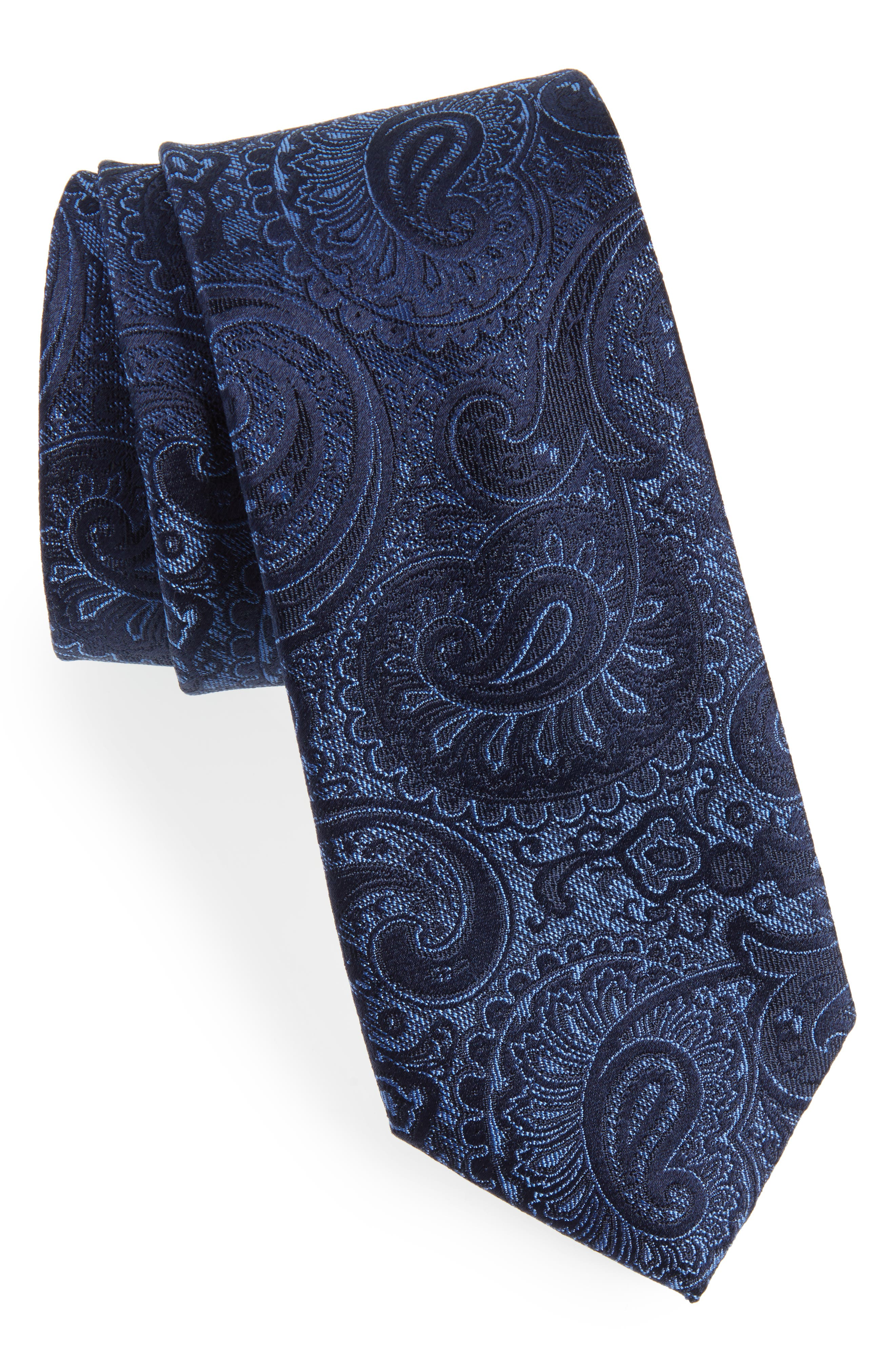 Berwyn Paisley Silk Tie,                         Main,                         color, 410