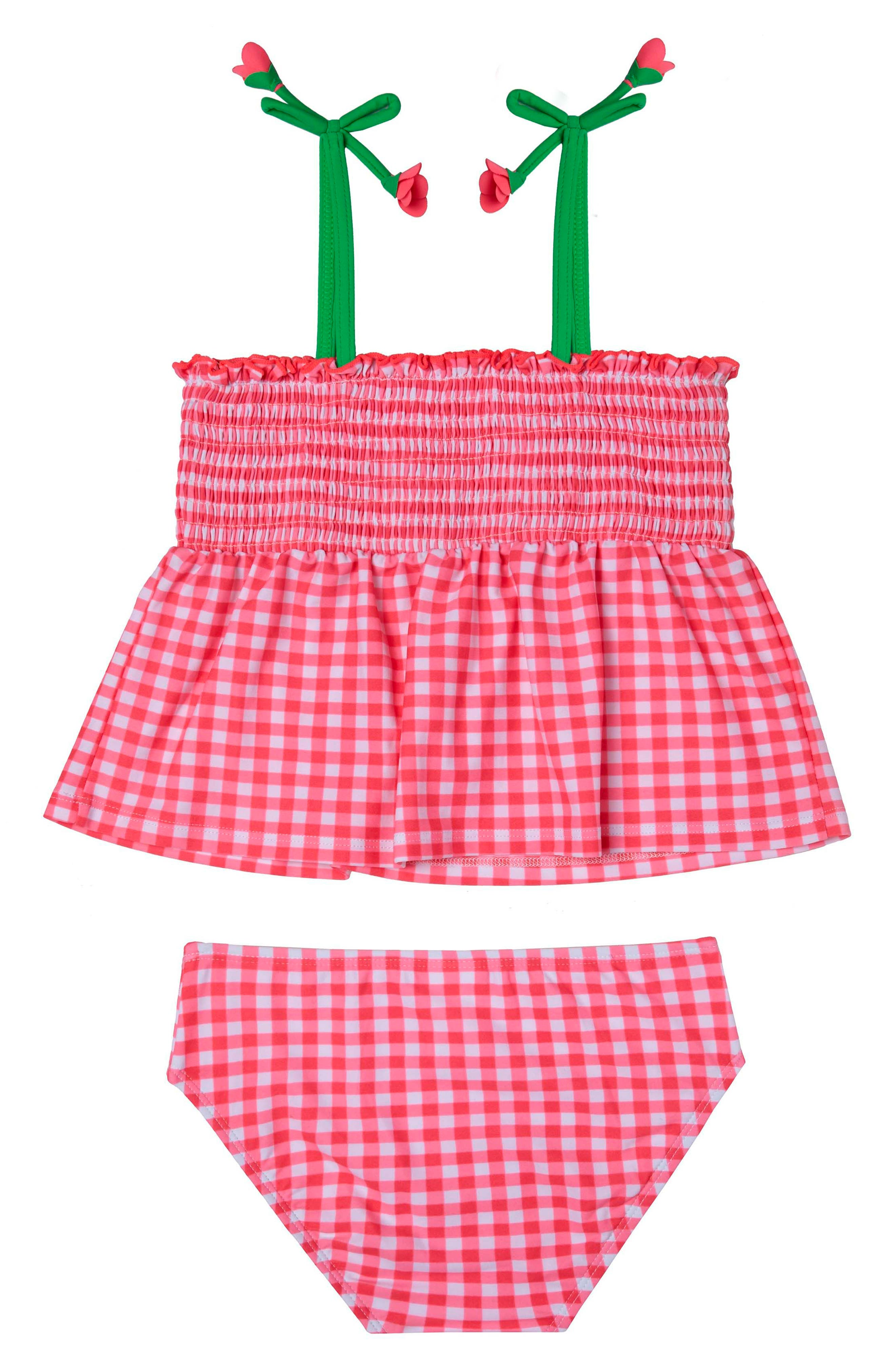 Picnic Gingham Two-Piece Swimsuit,                         Main,                         color,