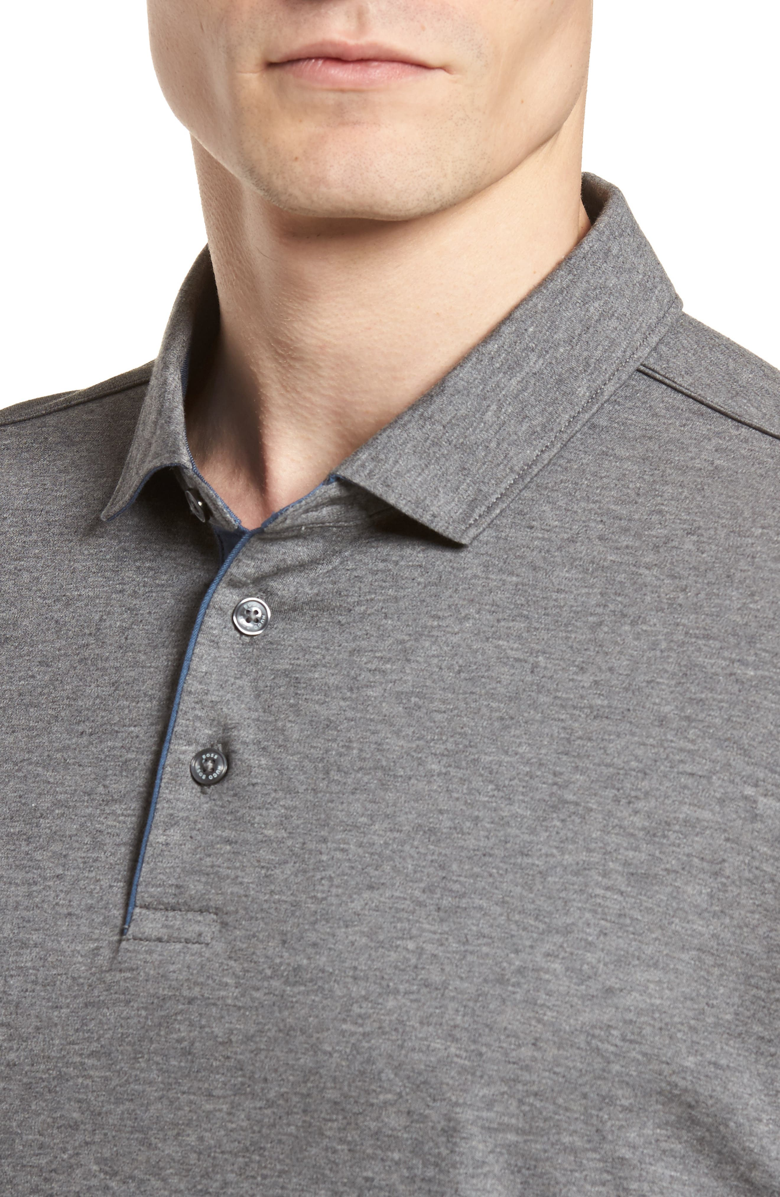Denim Trim Polo,                             Alternate thumbnail 4, color,                             020