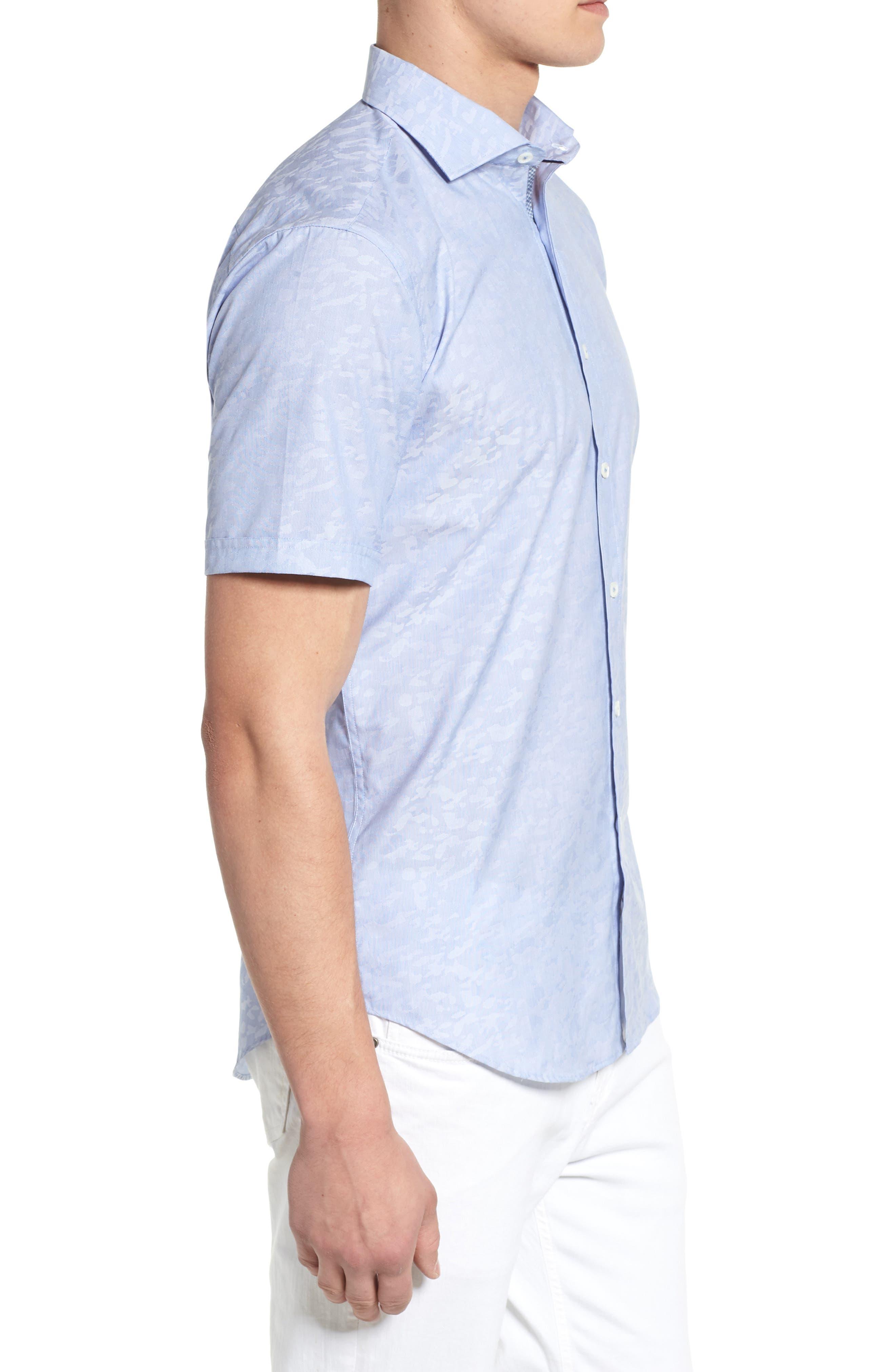 Woven Sport Shirt,                             Alternate thumbnail 3, color,                             CLASSIC BLUE