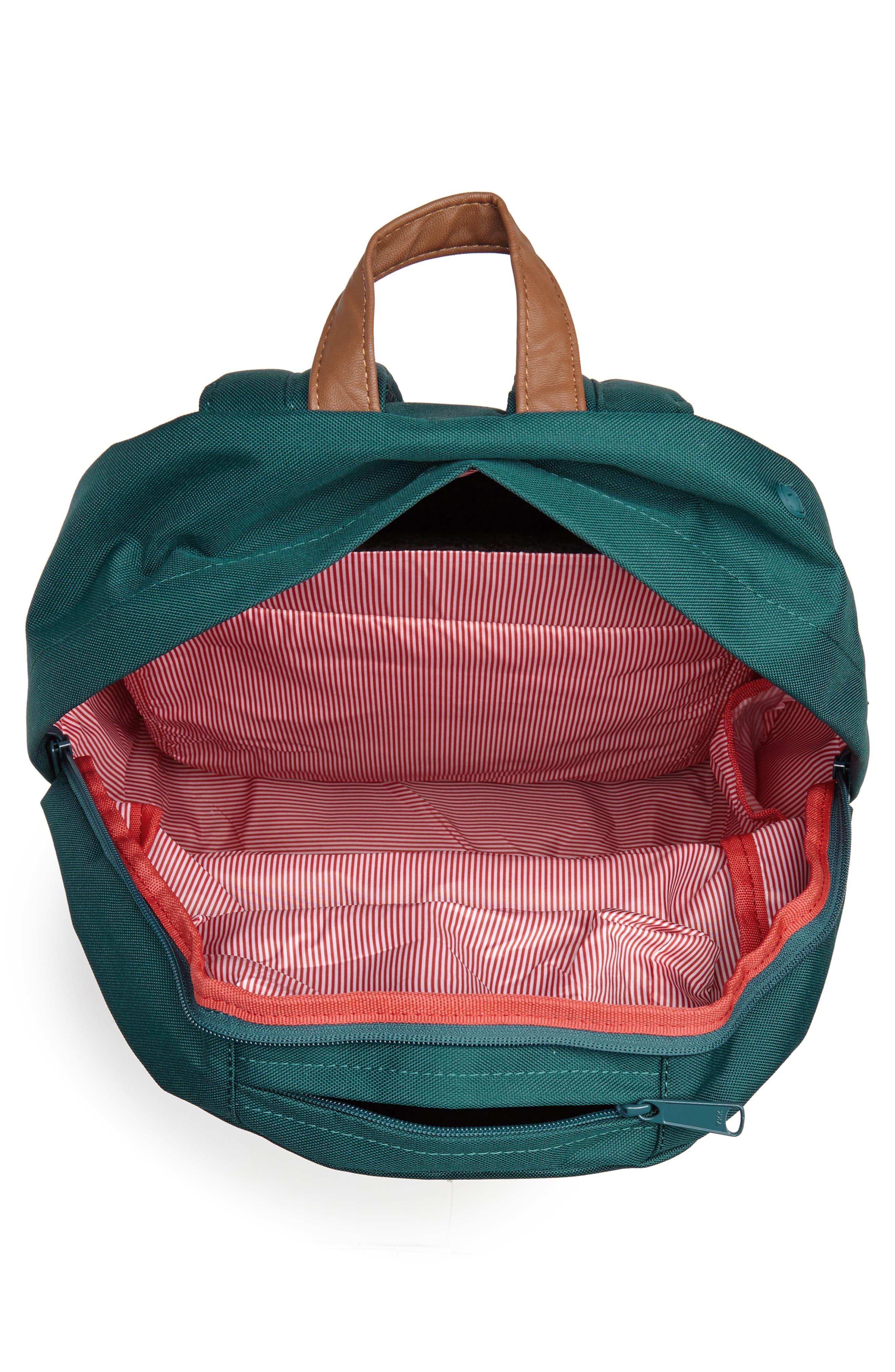 Pop Quiz Backpack,                             Alternate thumbnail 4, color,                             DEEP TEAL/ TAN