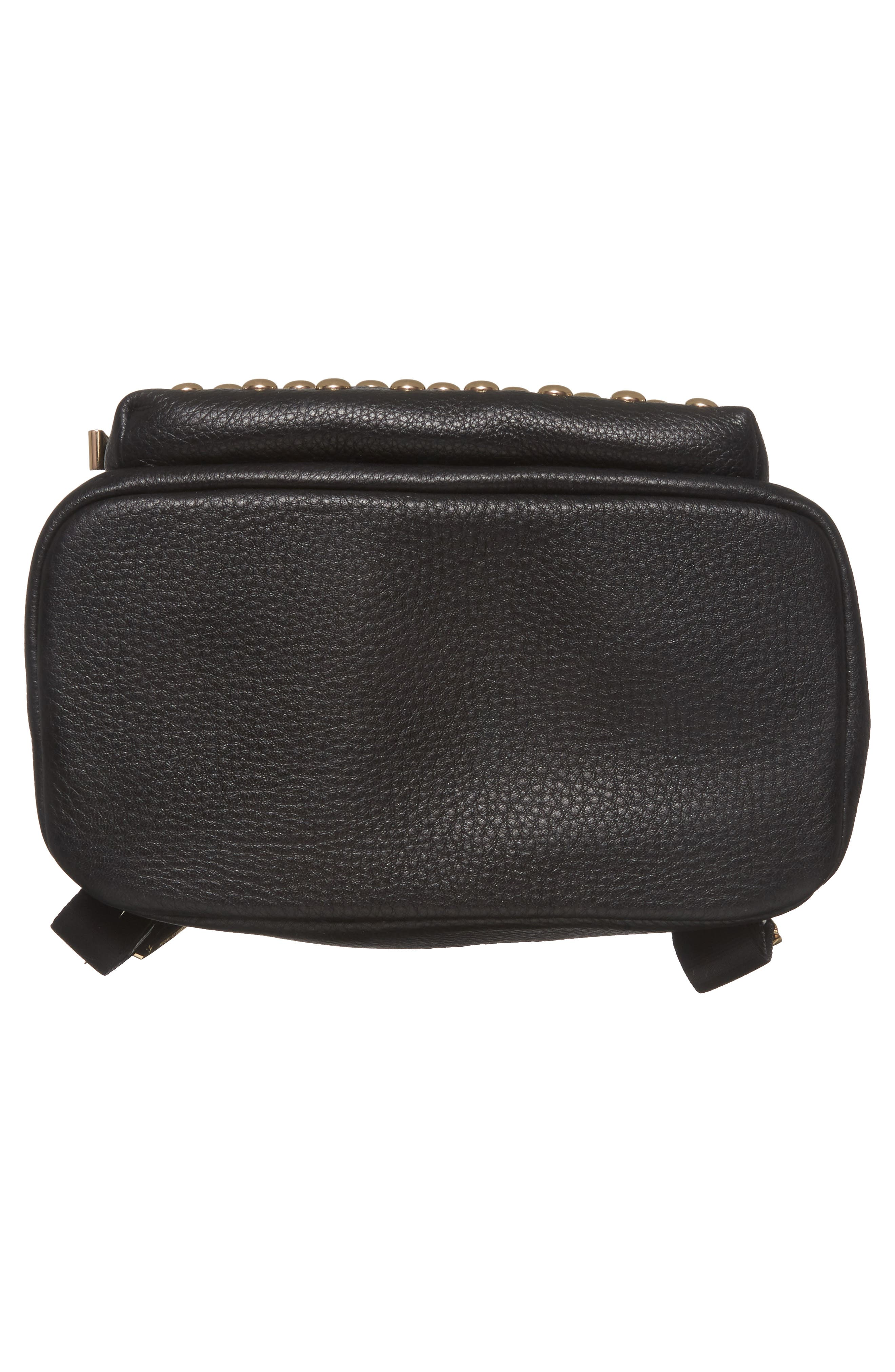 Large Wythe Studded Leather Backpack,                             Alternate thumbnail 6, color,                             001