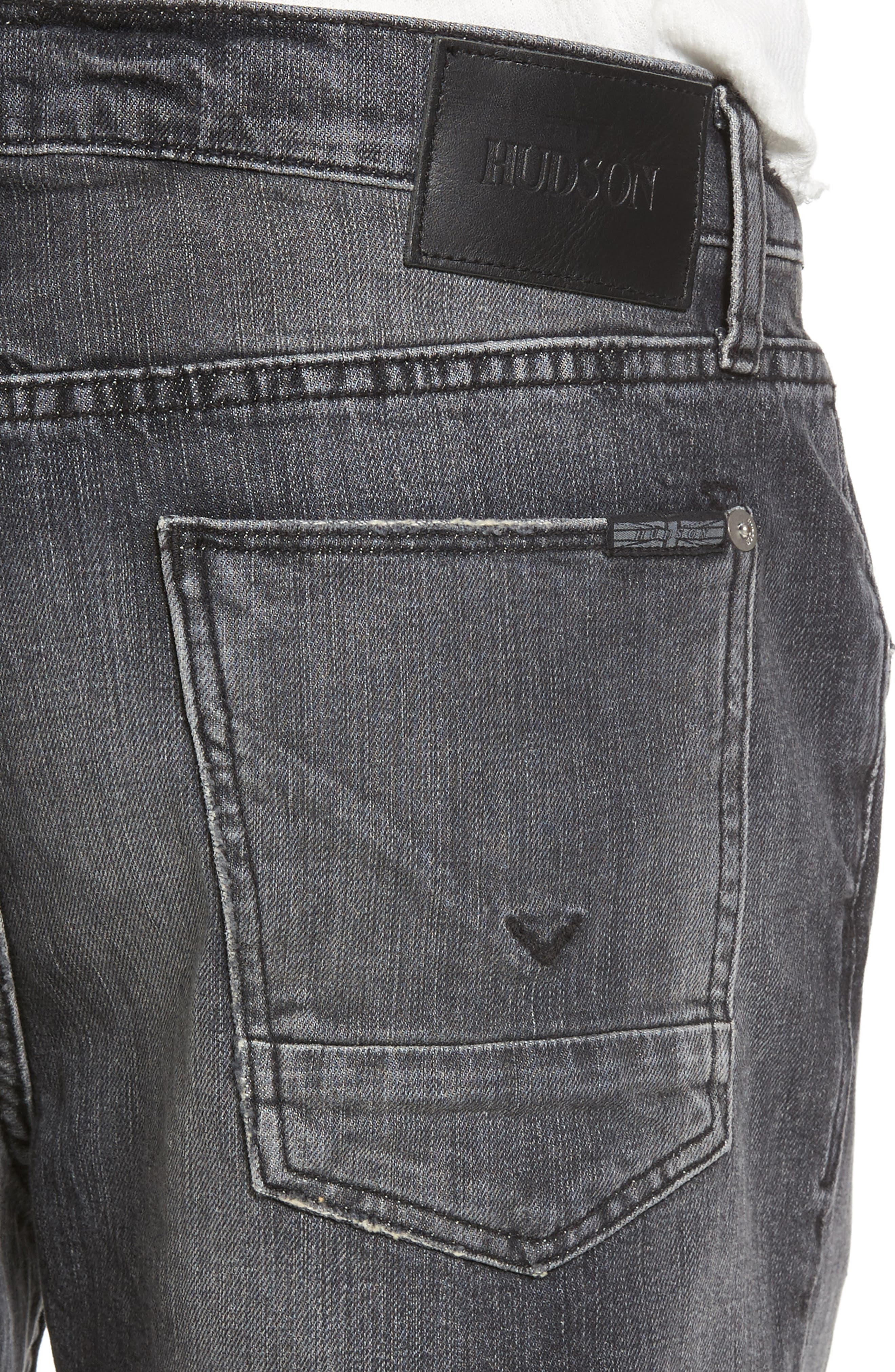 Axl Skinny Fit Jeans,                             Alternate thumbnail 4, color,                             001