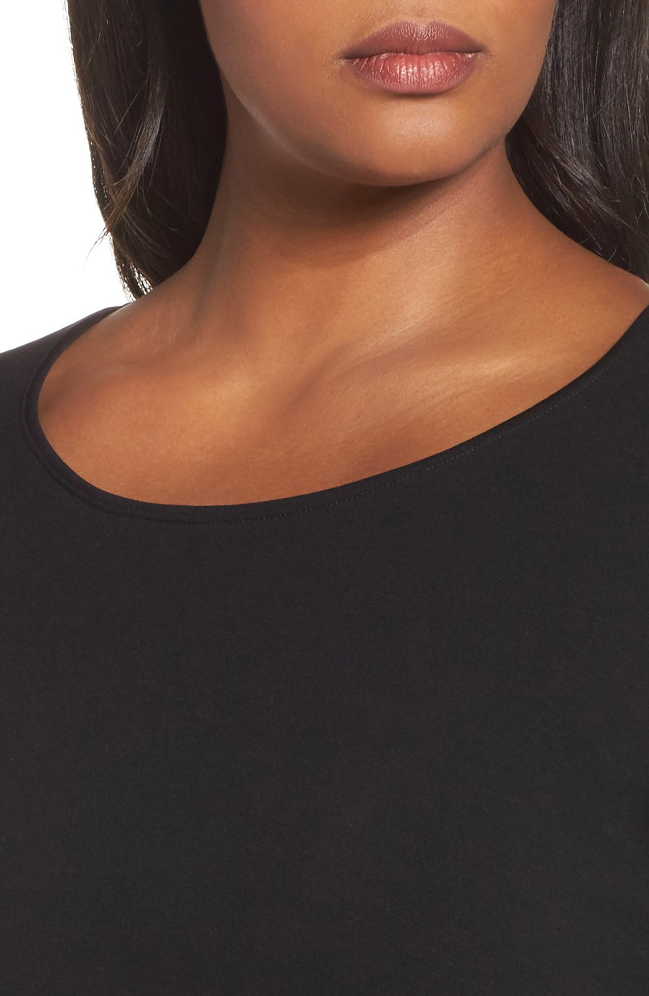 Scoop Neck Jersey Tunic,                             Alternate thumbnail 4, color,                             001