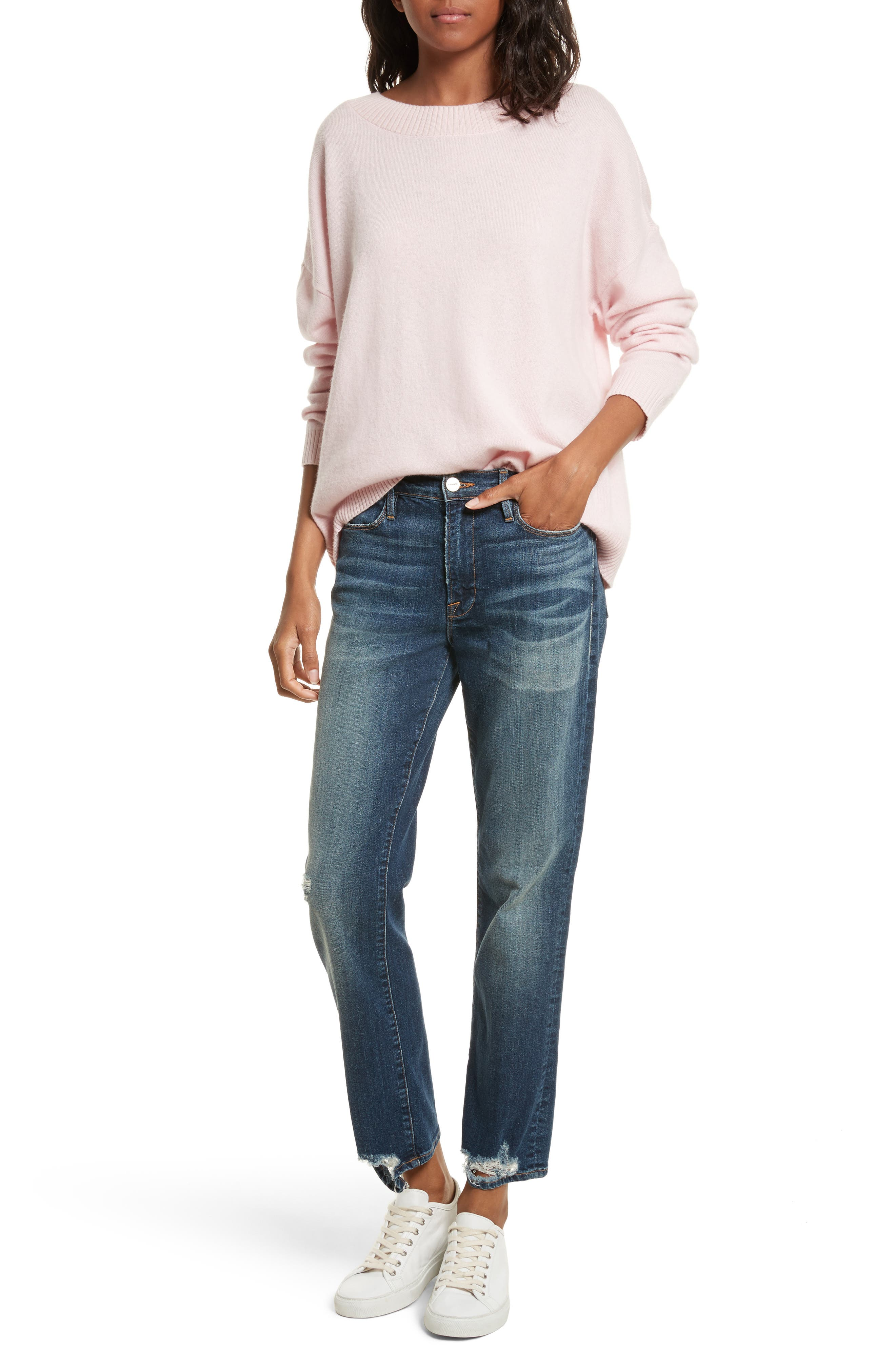 Le High Straight High Rise Jeans,                             Alternate thumbnail 7, color,                             402
