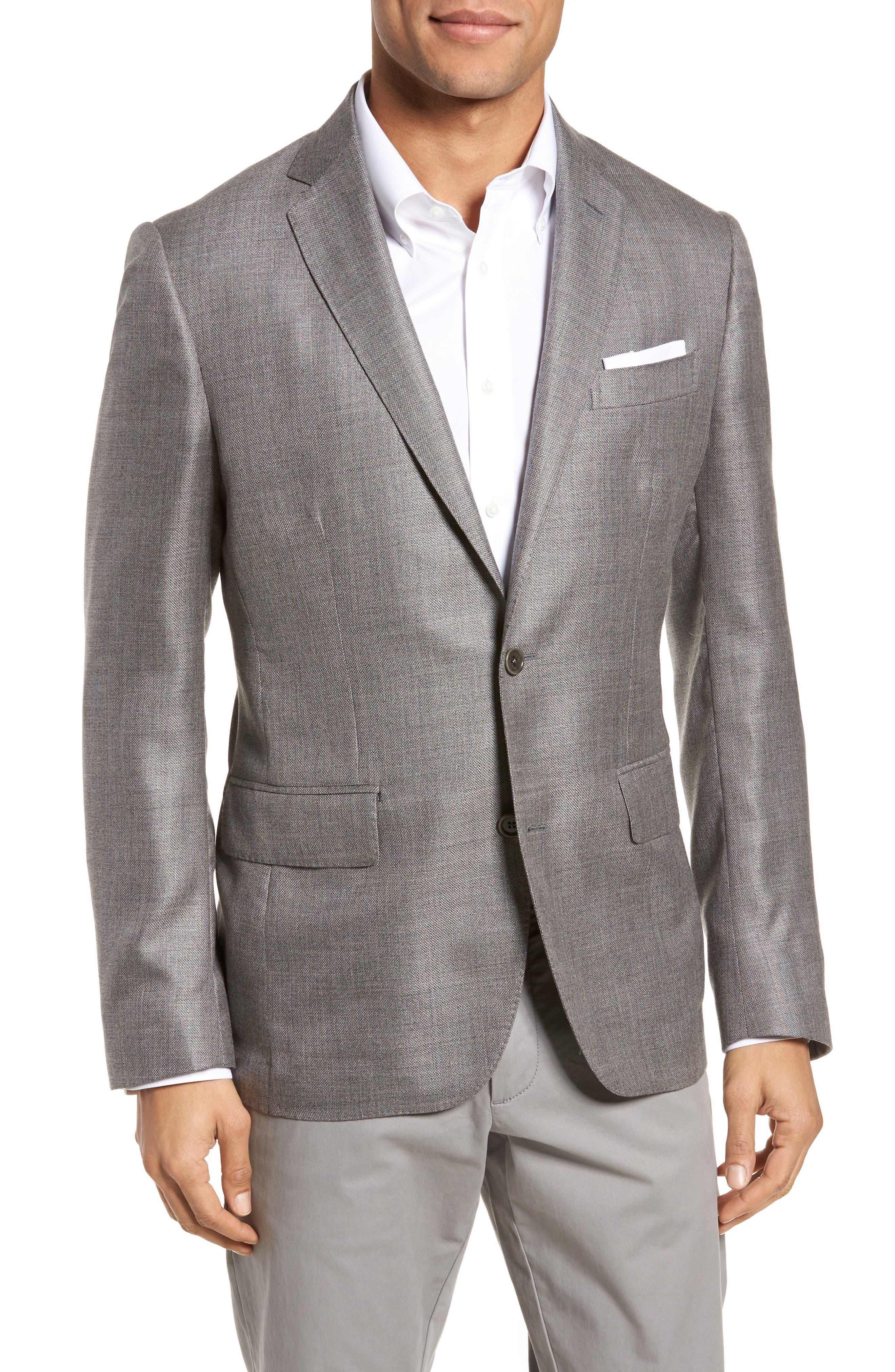 Trim Fit Cashmere & Silk Blazer,                             Main thumbnail 1, color,                             030