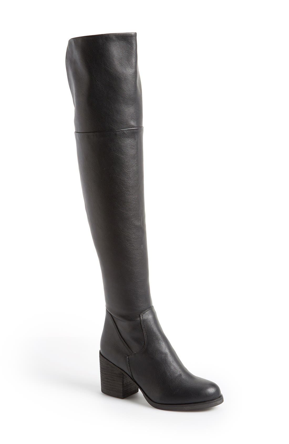 STEVE MADDEN,                             'Odyssey' Over the Knee Boot,                             Main thumbnail 1, color,                             005