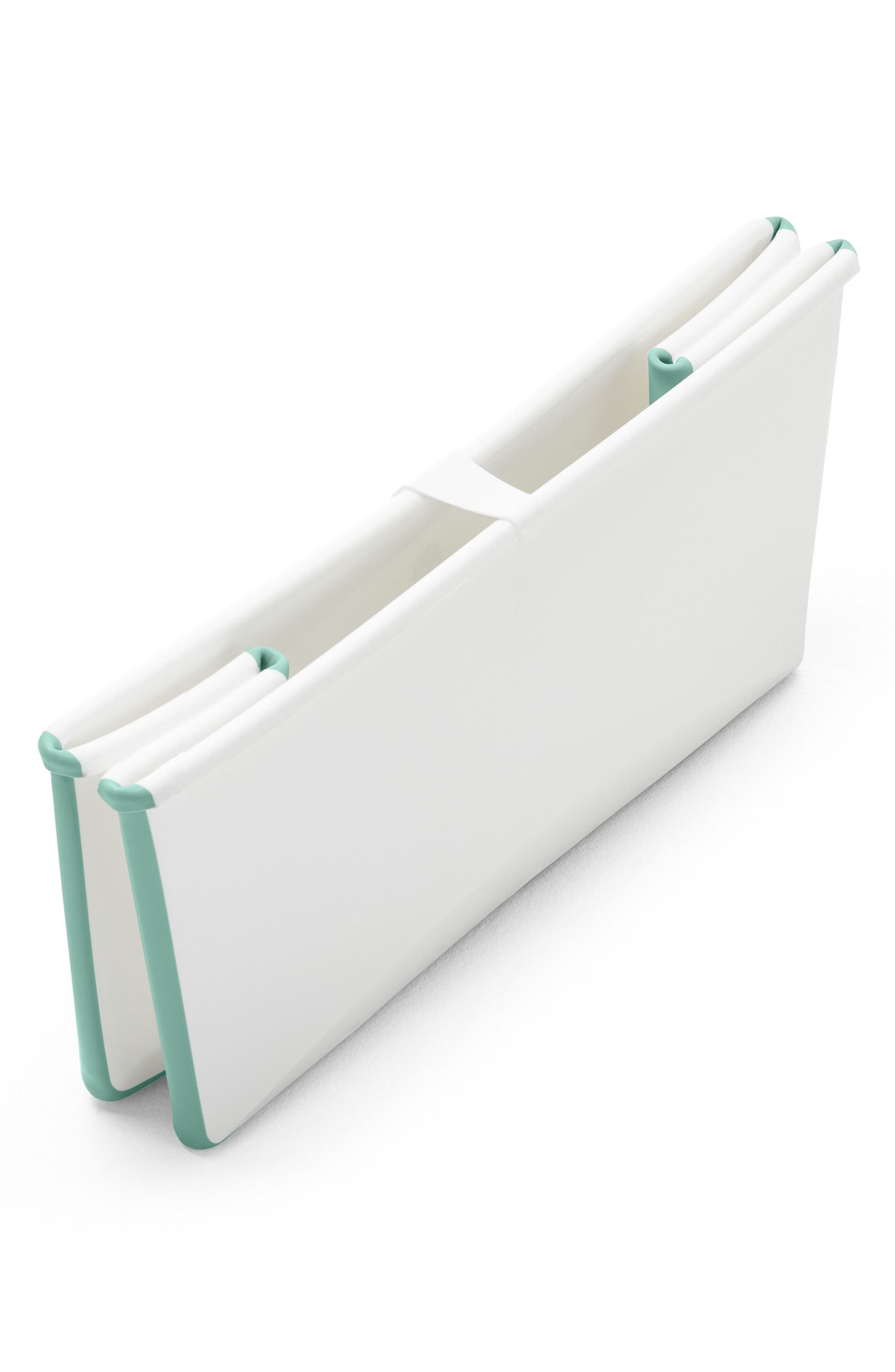 'Flexi Bath<sup>®</sup>' Foldable Baby Bathtub,                             Alternate thumbnail 3, color,                             AQUA