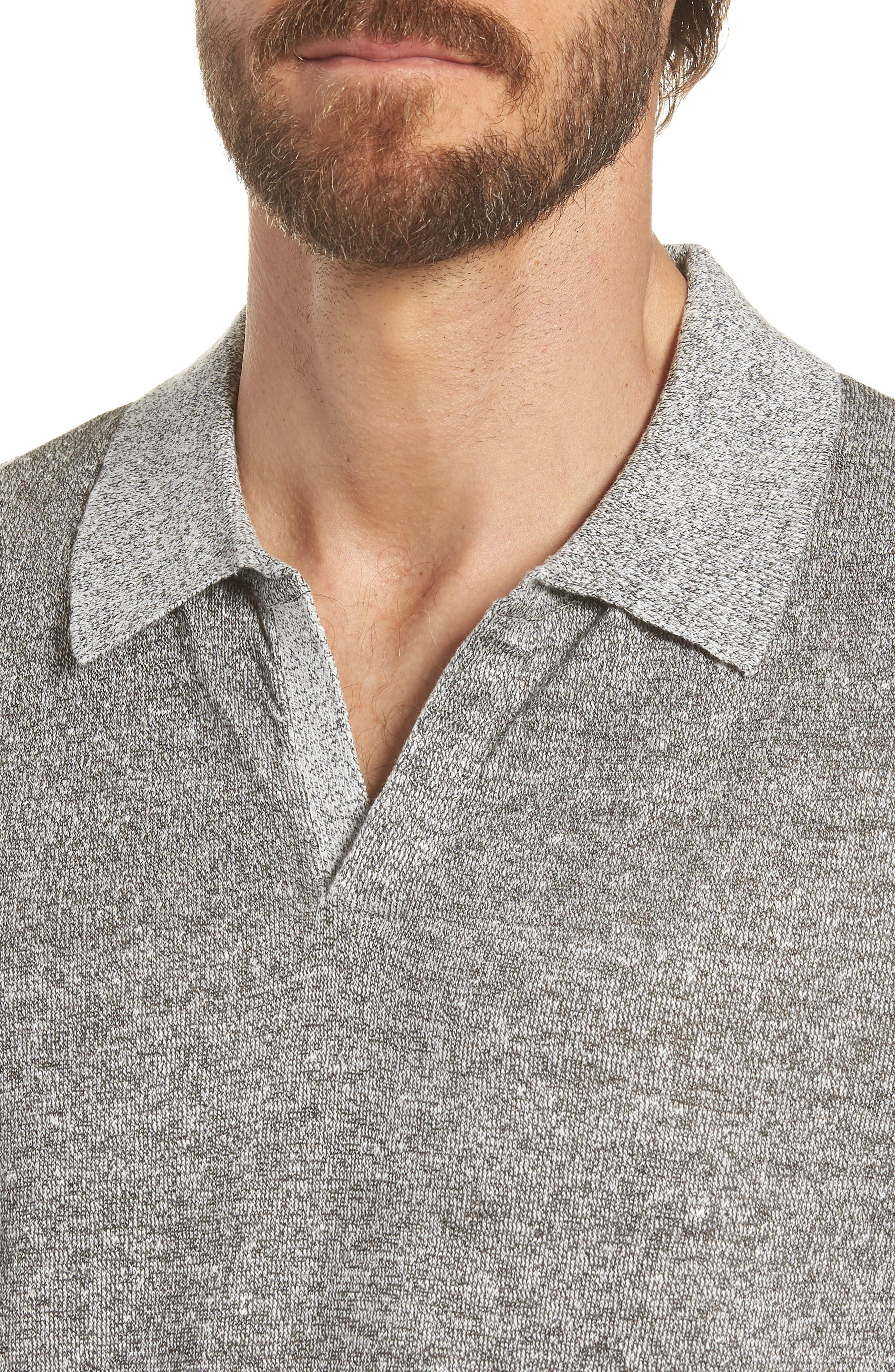 Linen Blend Polo Shirt,                             Alternate thumbnail 4, color,                             020