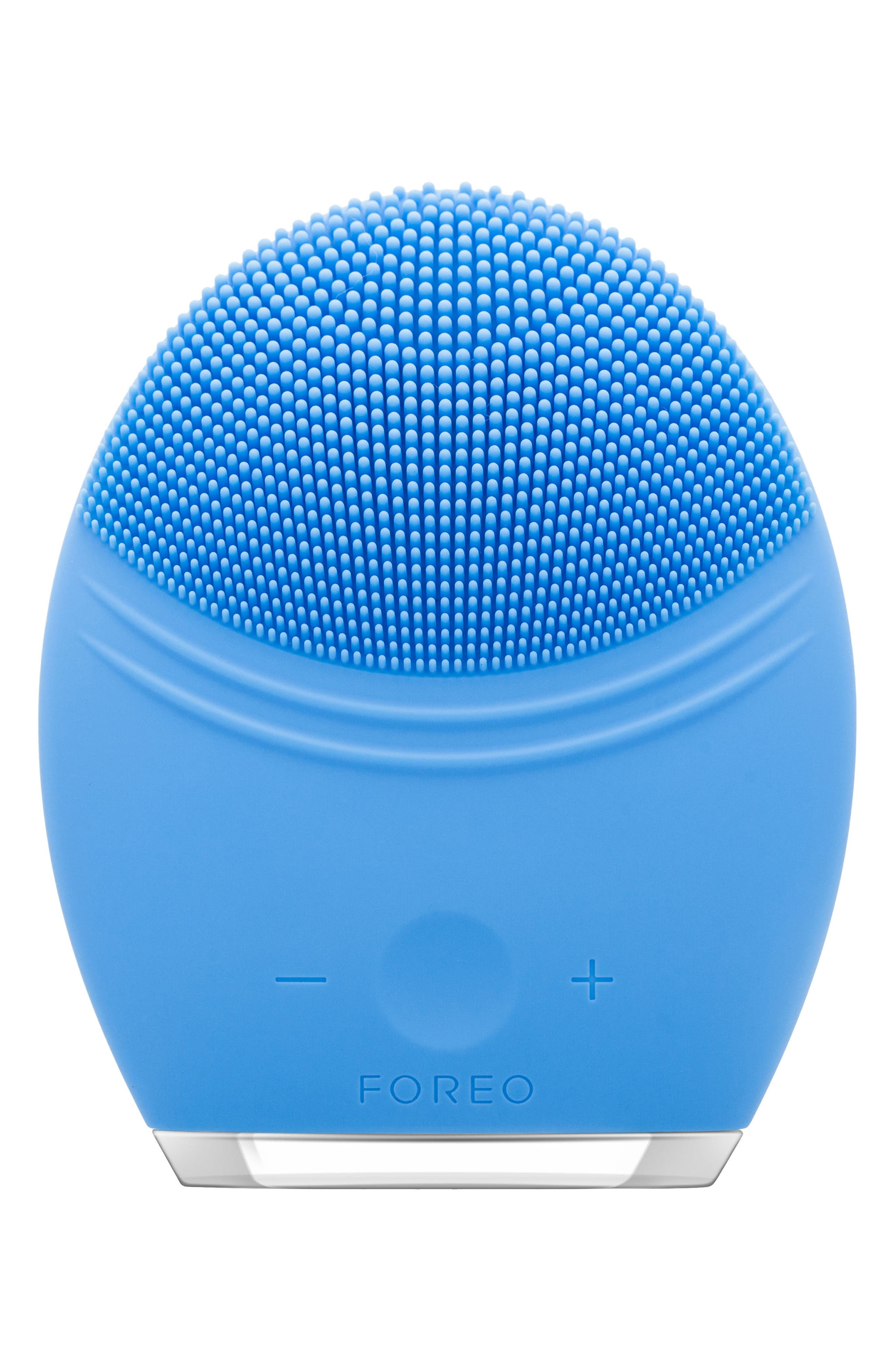 LUNA<sup>™</sup> 2 Pro Facial Cleansing & Anti-Aging Device,                             Main thumbnail 1, color,                             AQUAMARINE