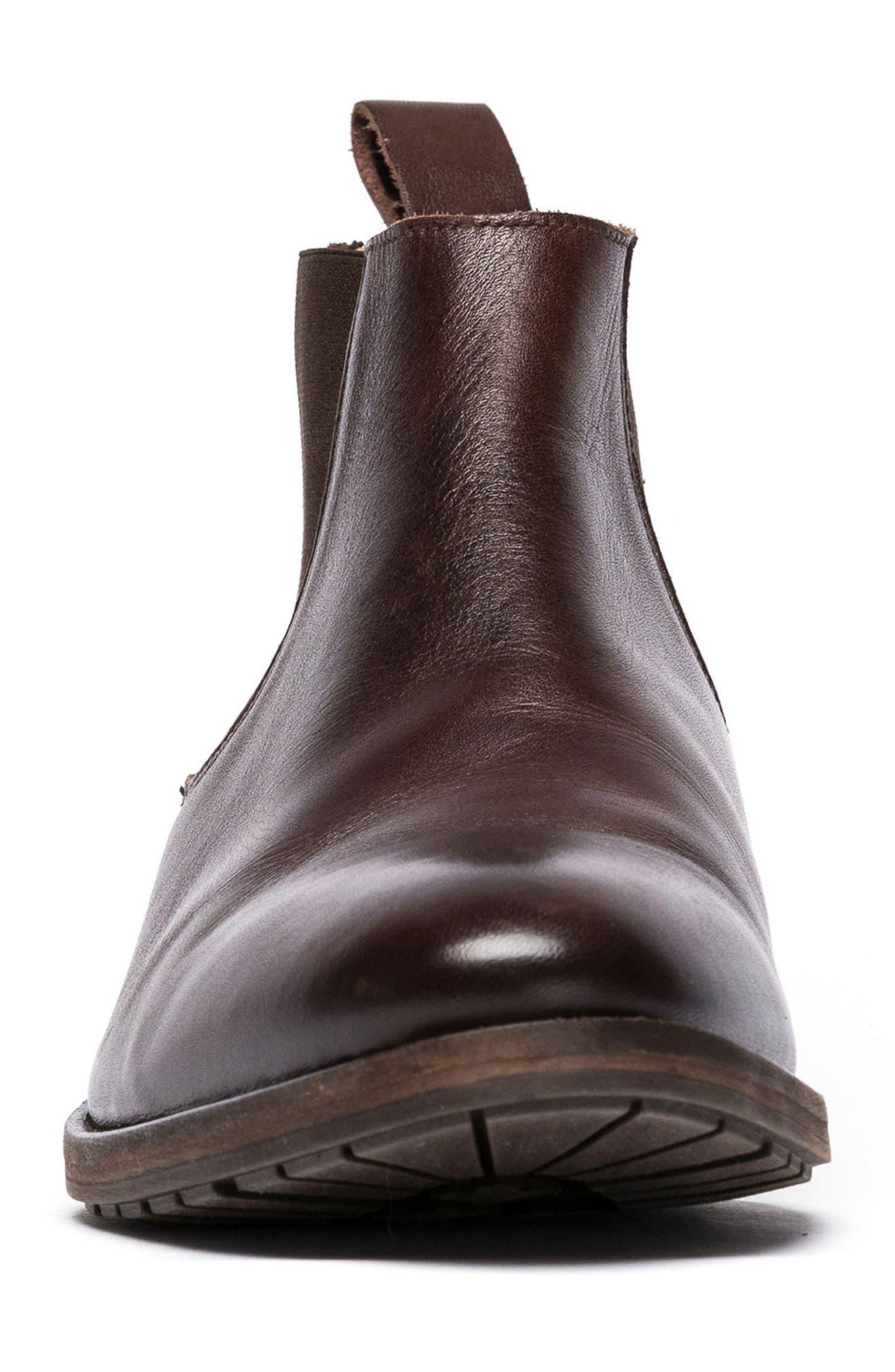 Logan Terrace Chelsea Boot,                             Alternate thumbnail 4, color,                             CHOCOLATE