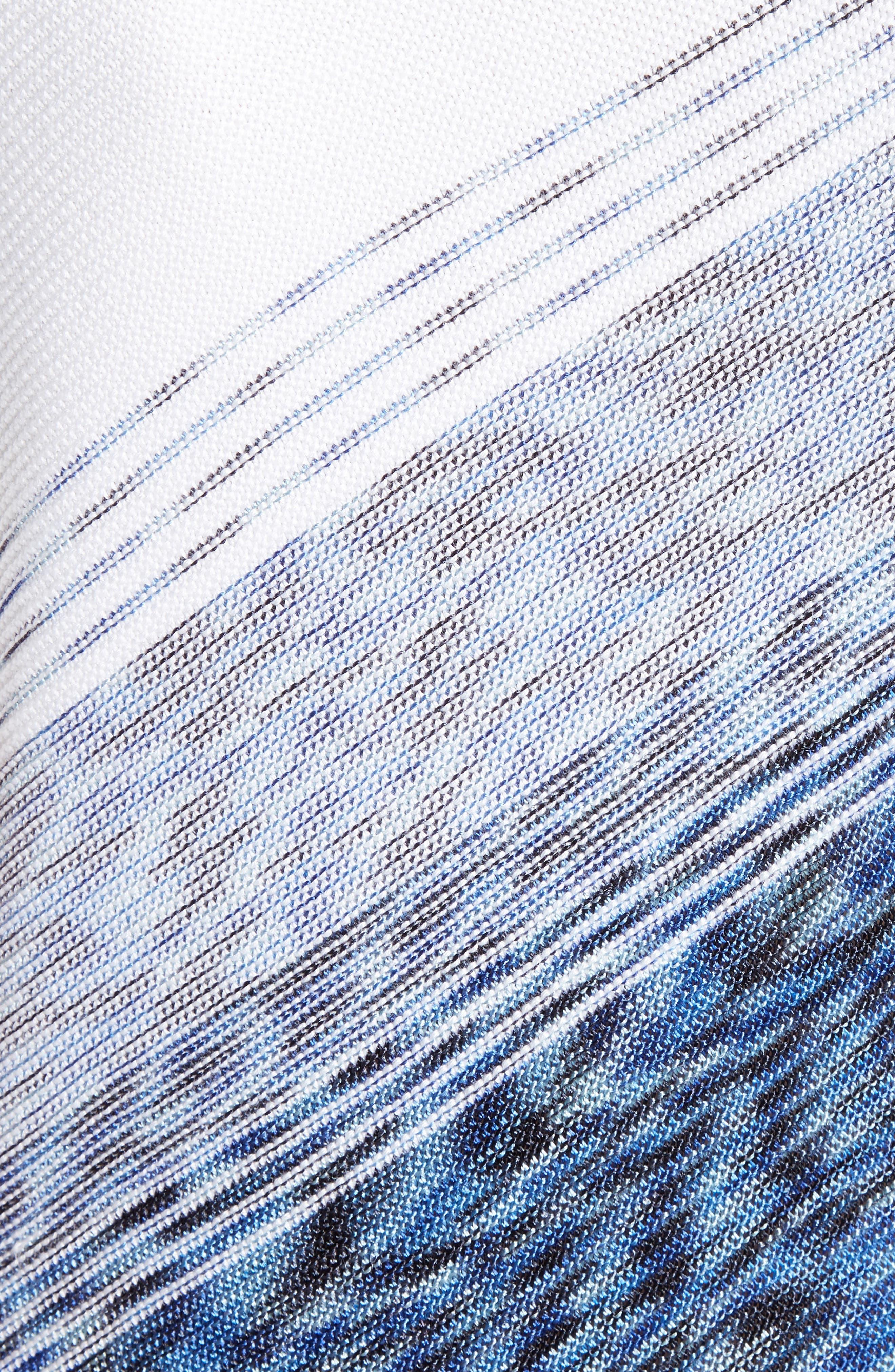 Dégradé Chambray Asymmetrical Sweater,                             Alternate thumbnail 5, color,                             400