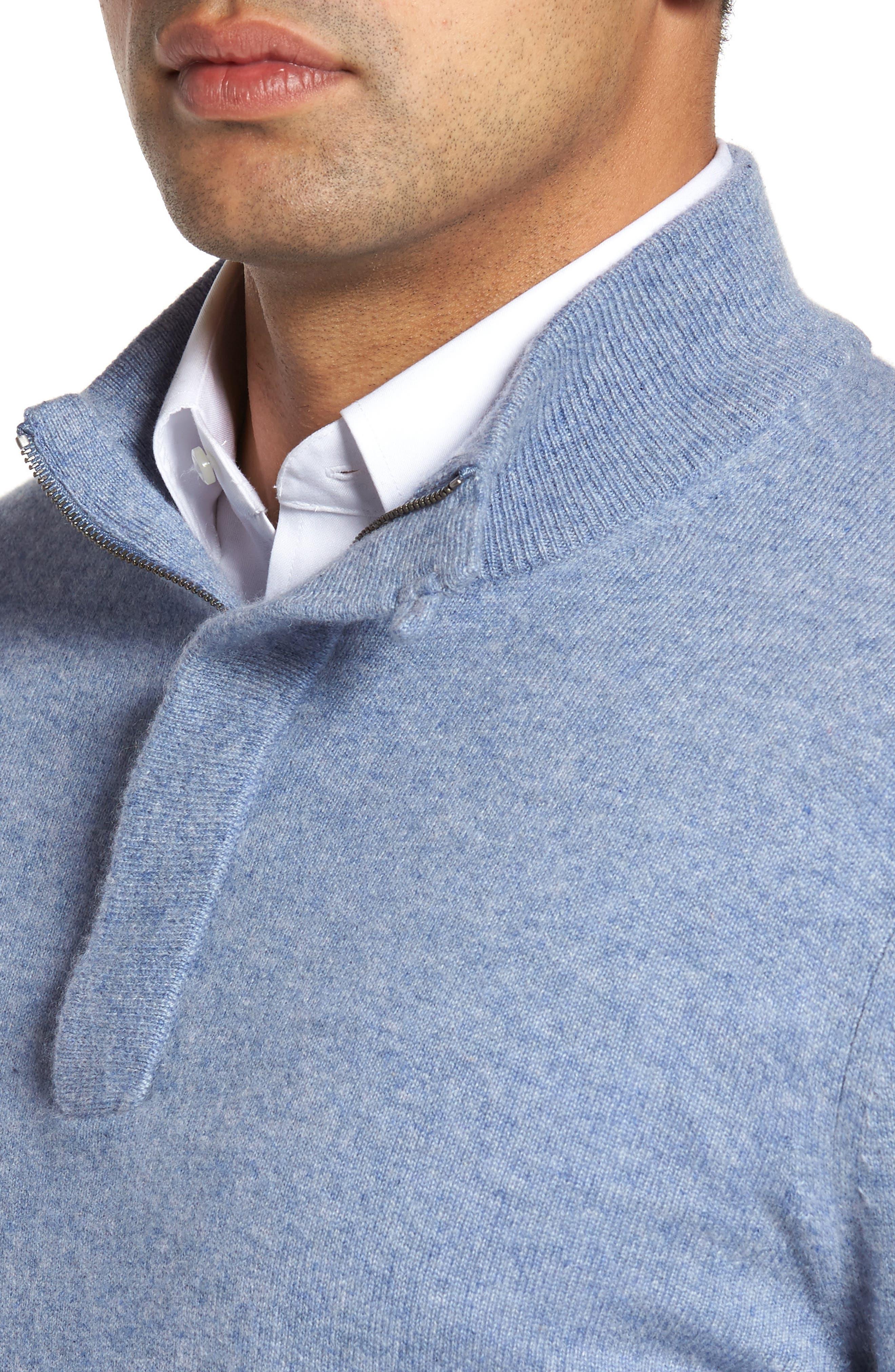 Cashmere Quarter Zip Sweater,                             Alternate thumbnail 23, color,
