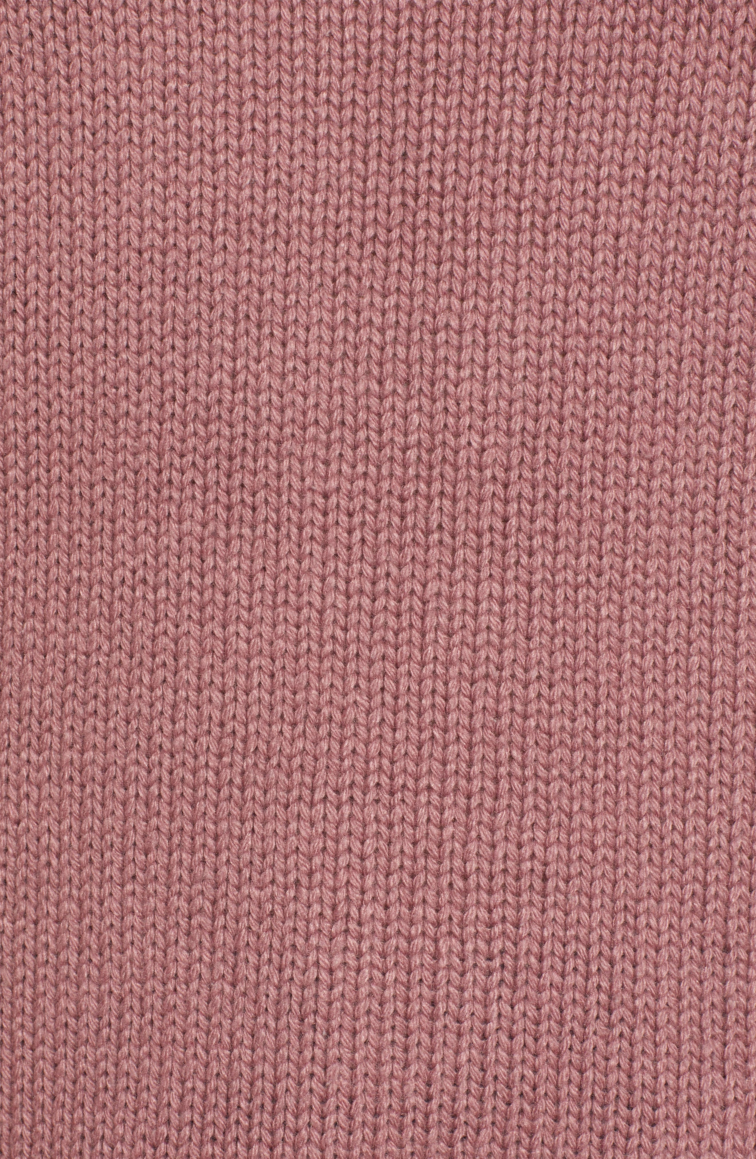 High/Low Turtleneck Sweater,                             Alternate thumbnail 5, color,                             PURPLE TAUPE