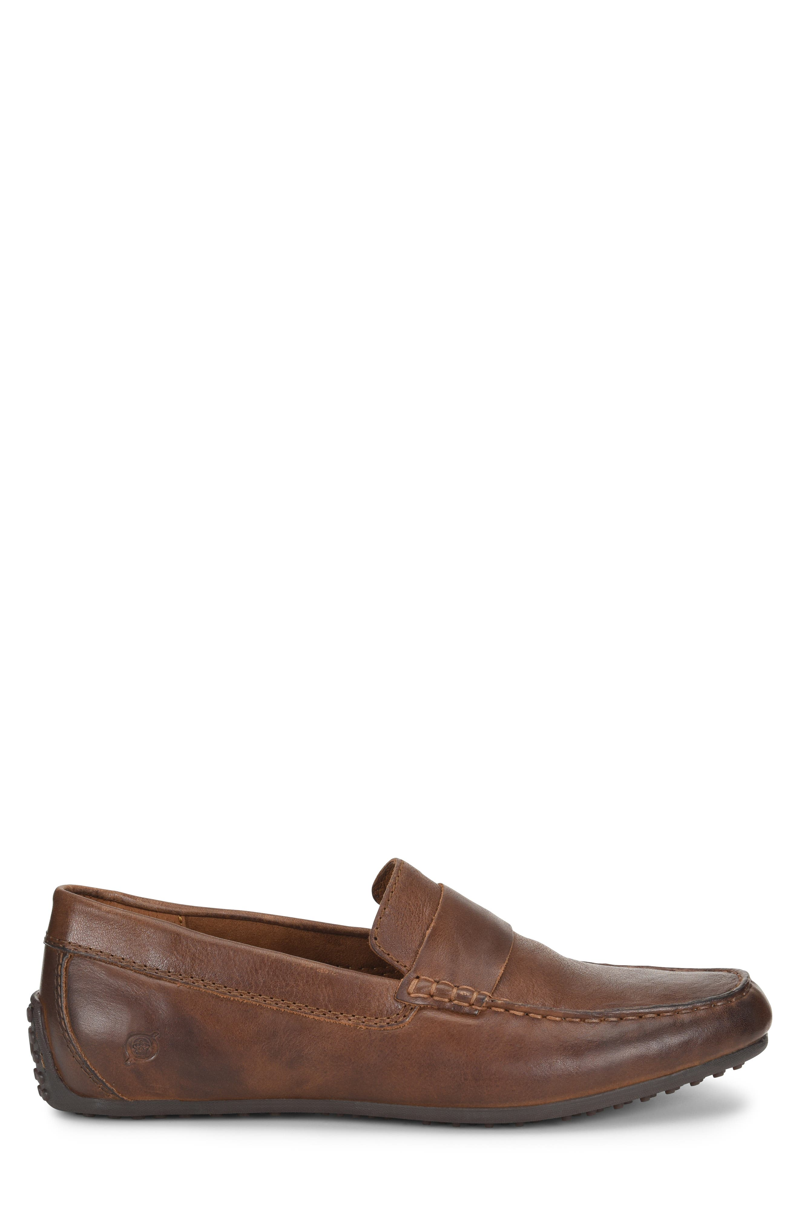Ratner Driving Loafer,                             Alternate thumbnail 3, color,                             BROWN LEATHER