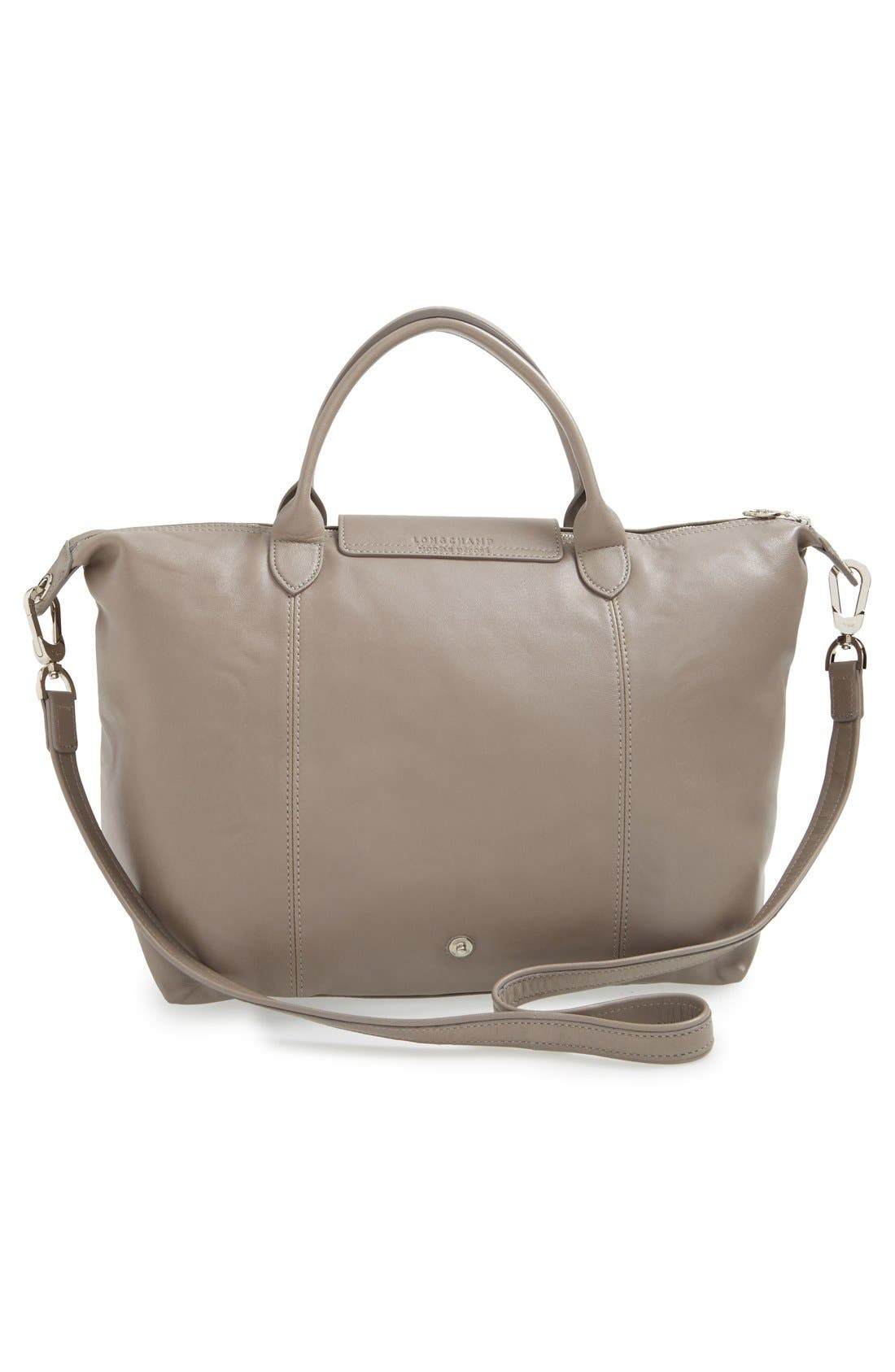 Medium 'Le Pliage Cuir' Leather Top Handle Tote,                             Alternate thumbnail 58, color,