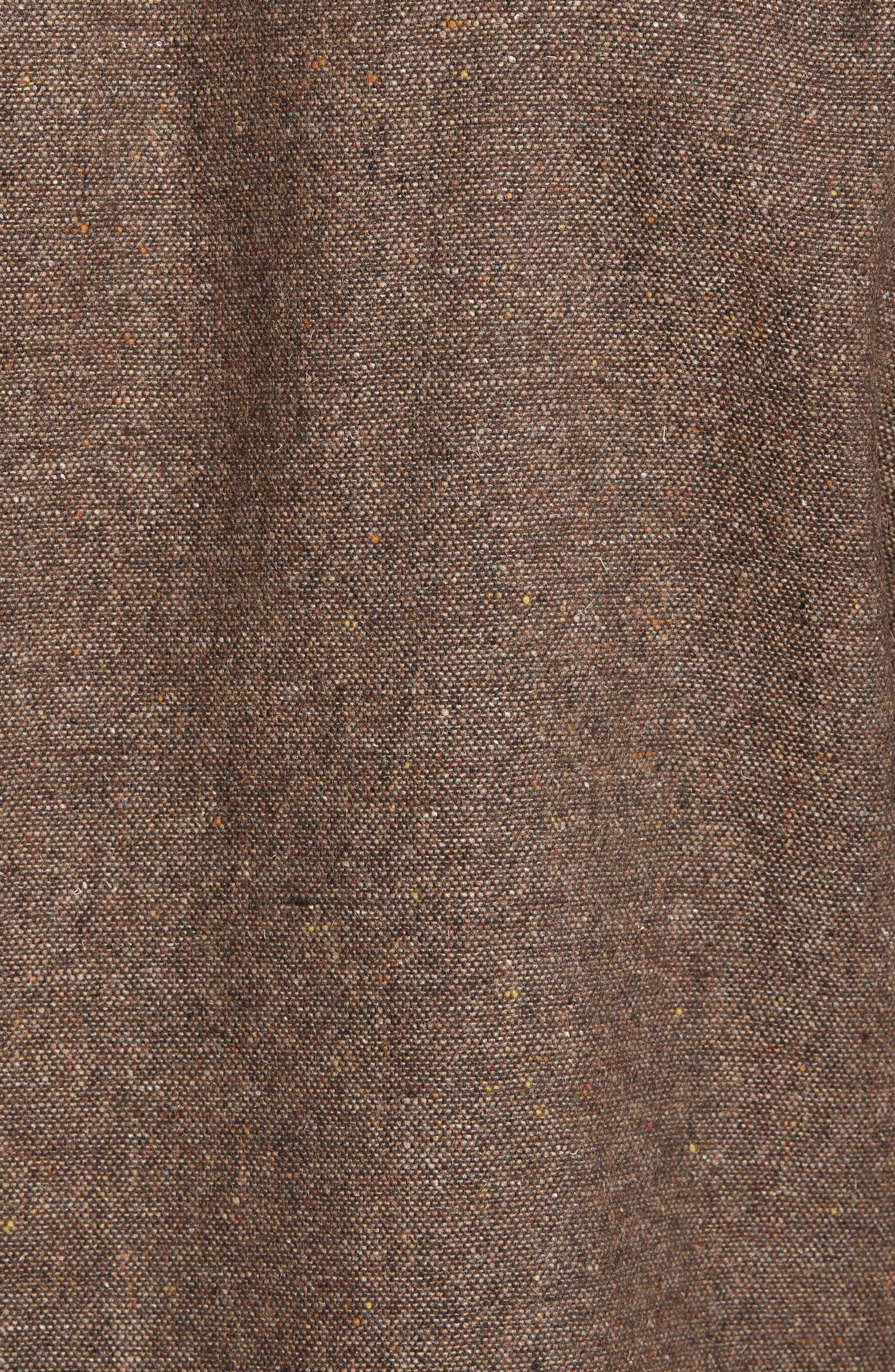Slim Fit Wool Sport Shirt,                             Alternate thumbnail 5, color,