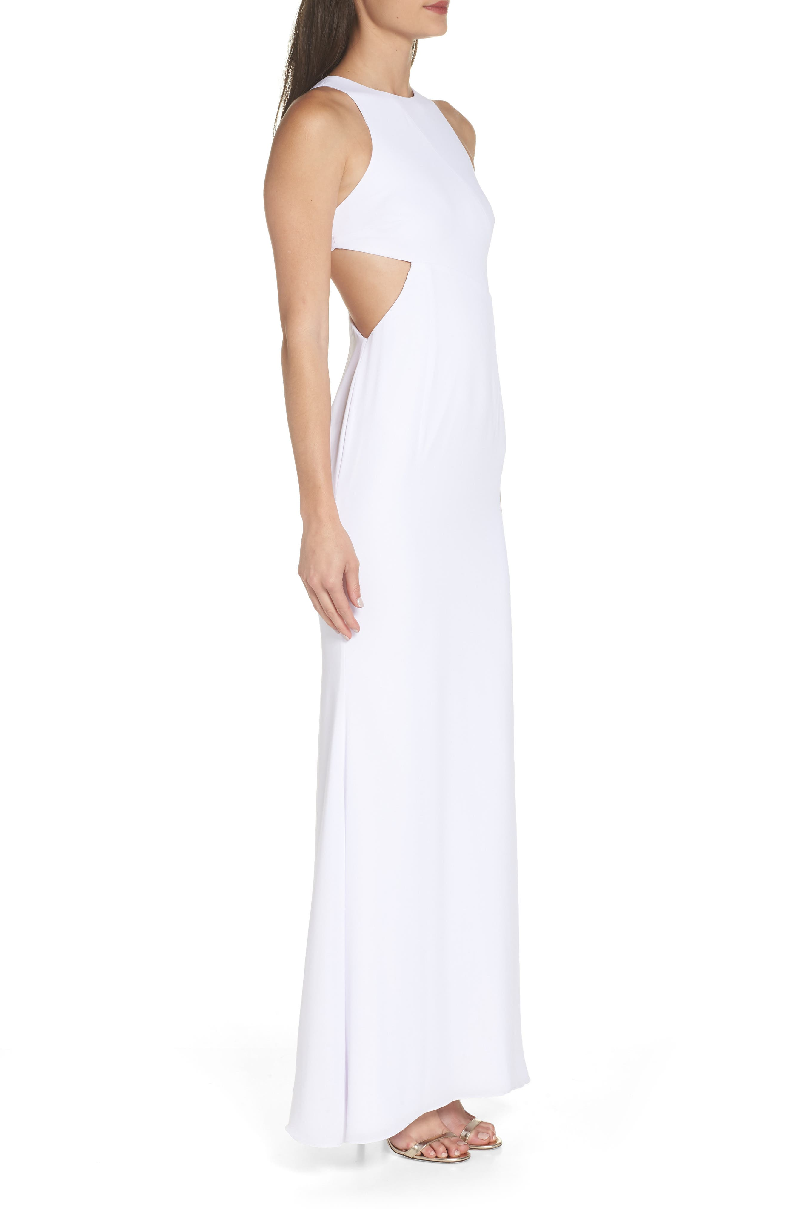 Fame & Partners The Midheaven Gown,                             Alternate thumbnail 3, color,                             WHITE
