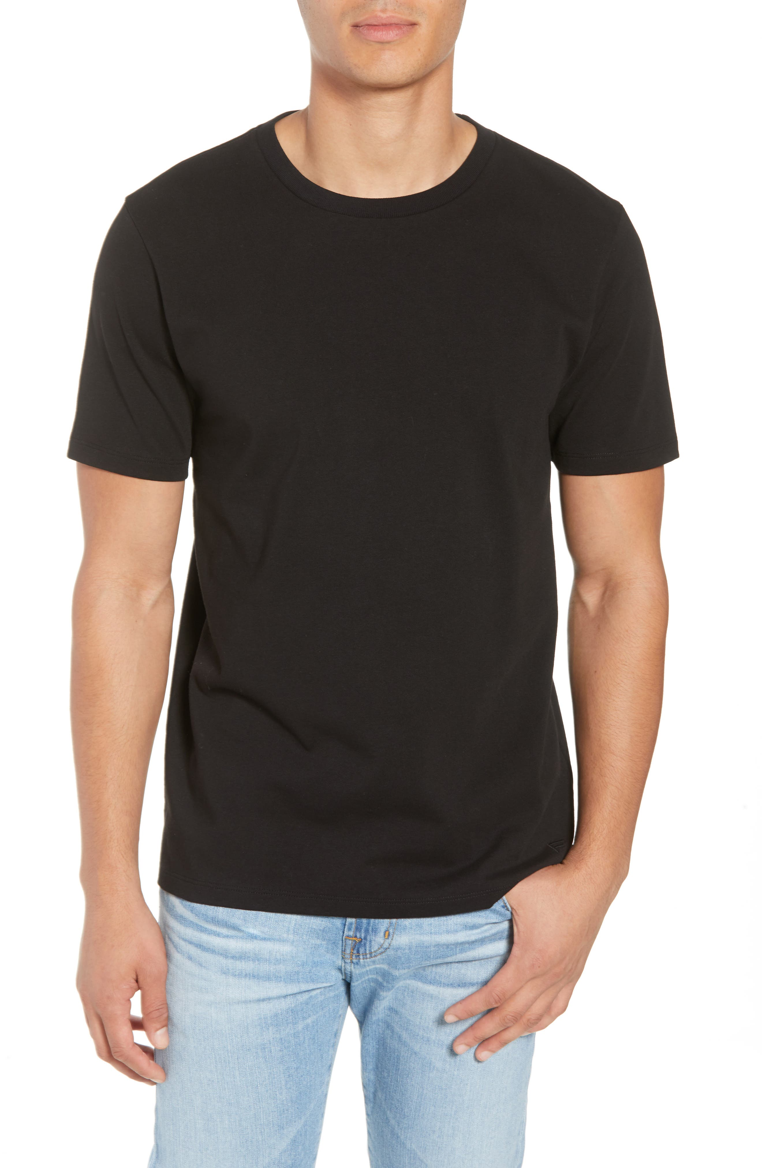 Classic Fit Cotton T-Shirt,                         Main,                         color, NOIR