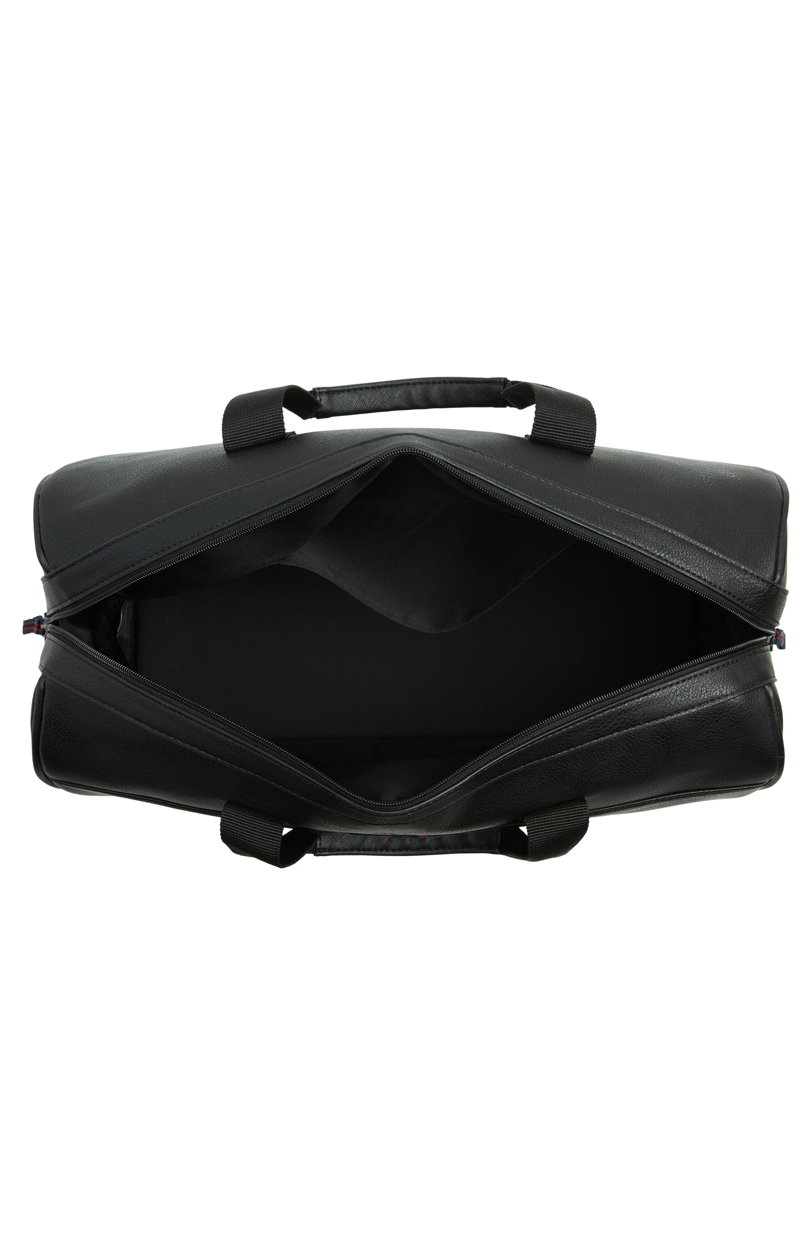 Webbing Duffel Bag,                             Alternate thumbnail 3, color,                             BLACK