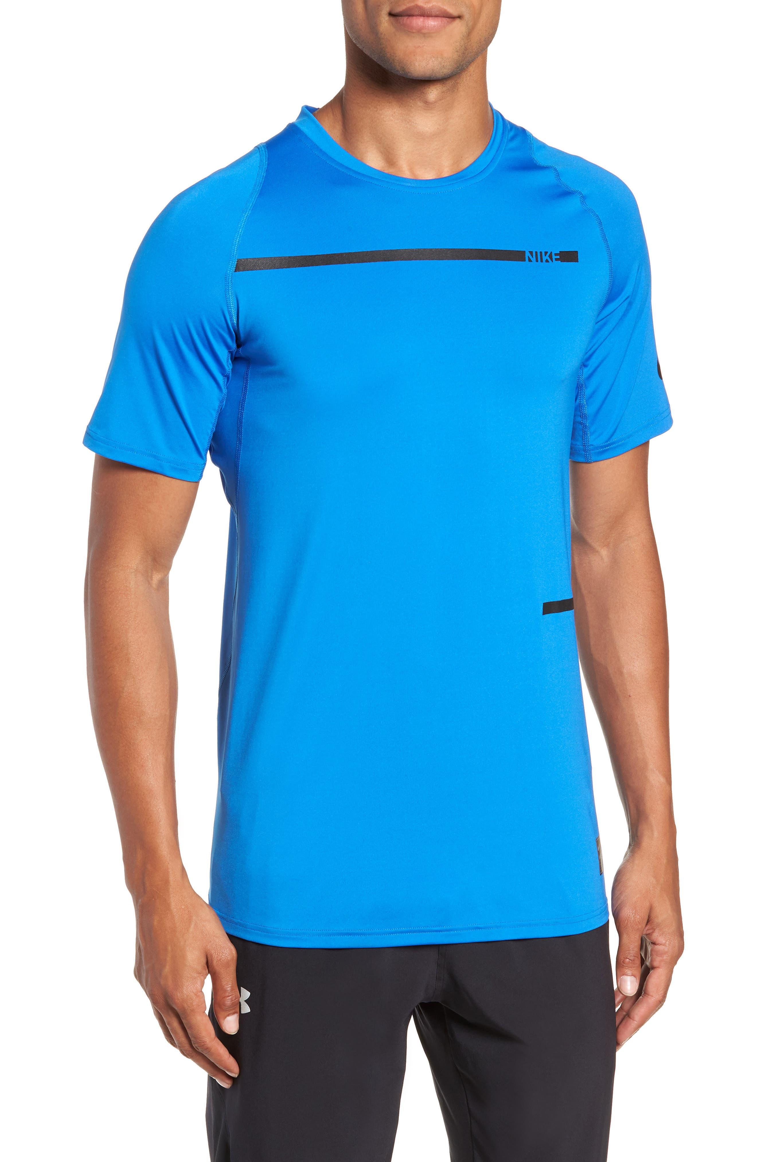 Nike Pro Dry Logo T-Shirt, Blue