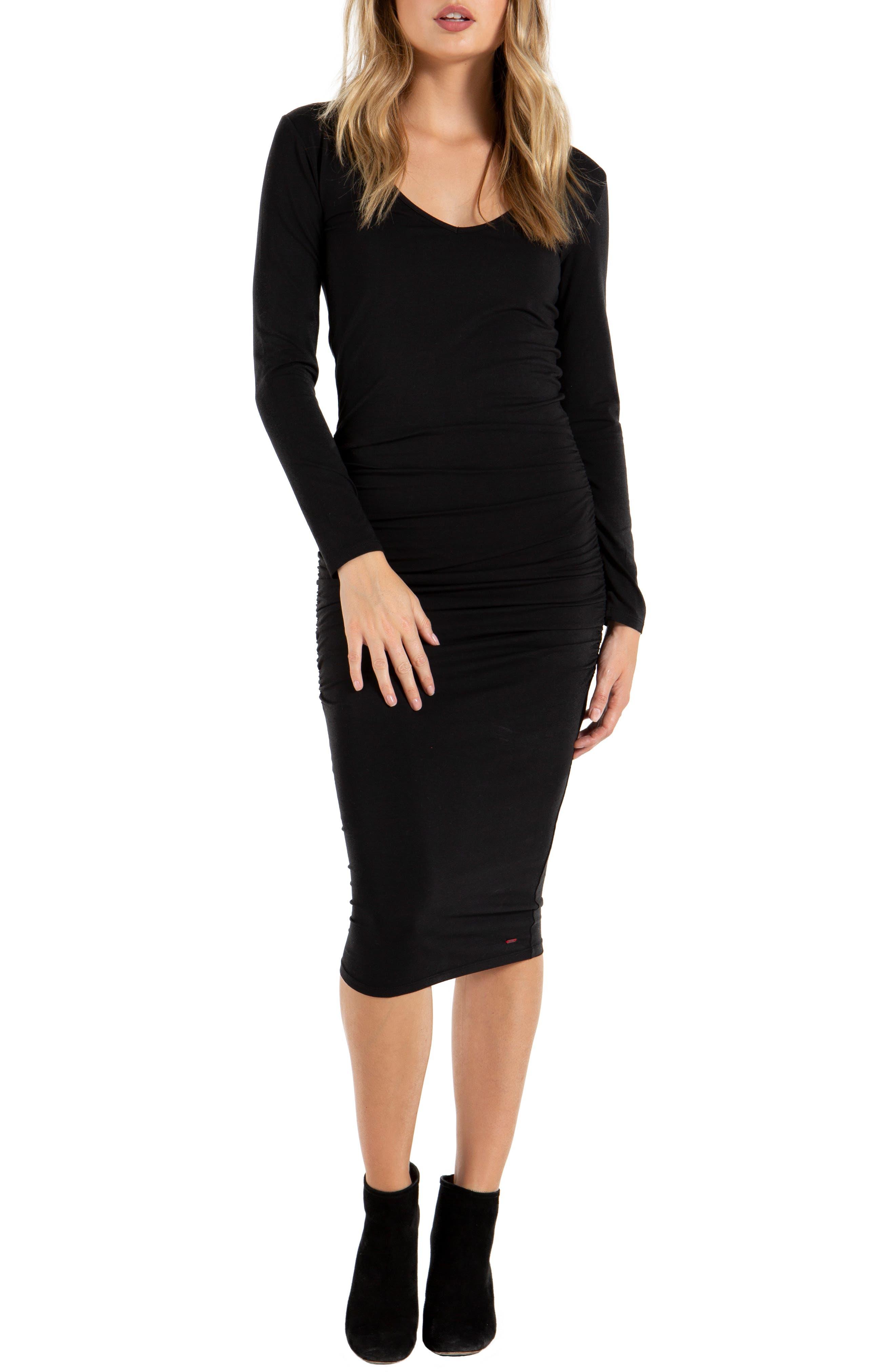 N:PHILANTHROPY Lotus Midi Dress in Black Cat