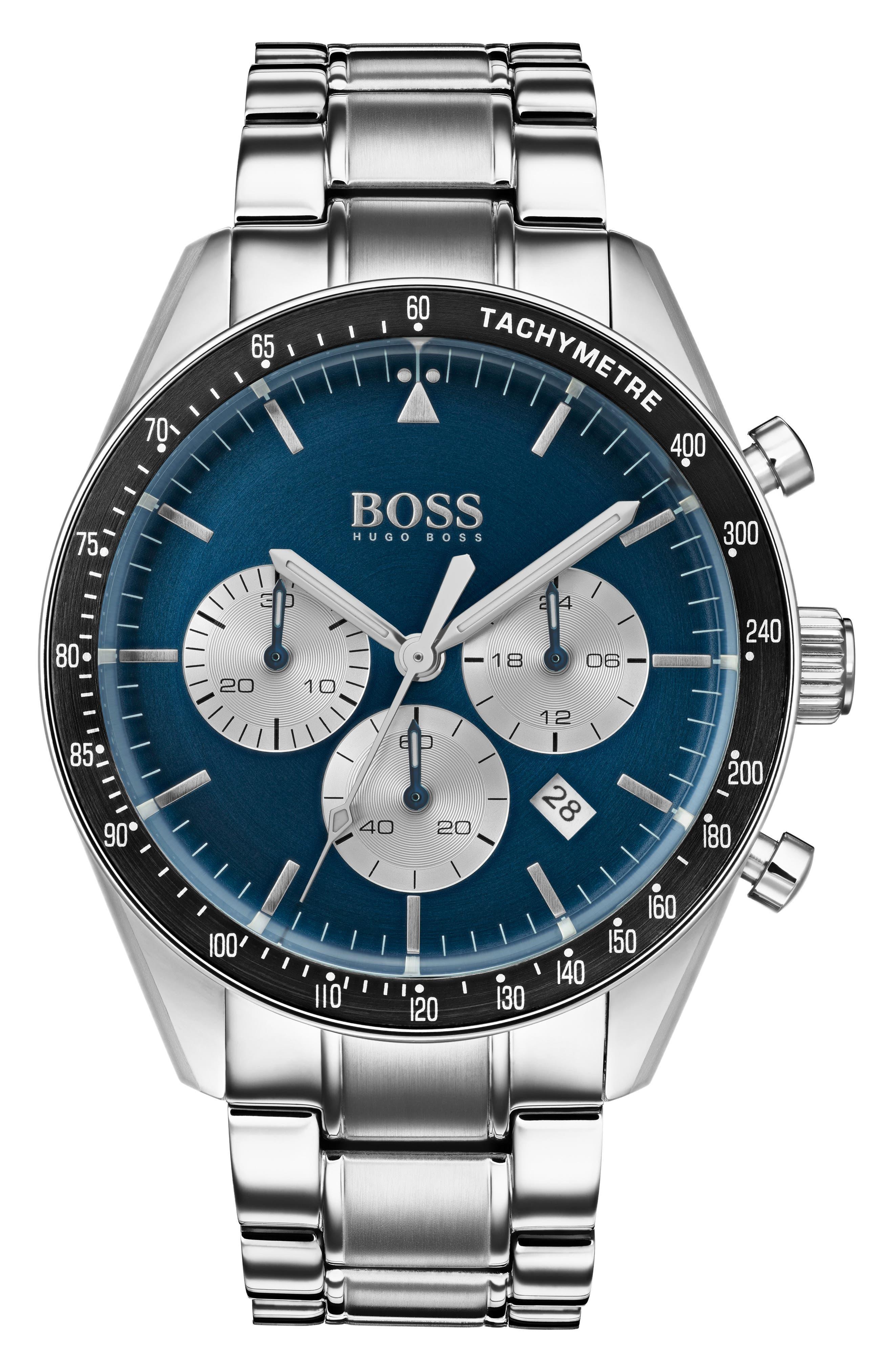Trophy Chronograph Bracelet Watch, 44mm,                             Main thumbnail 1, color,                             BLUE