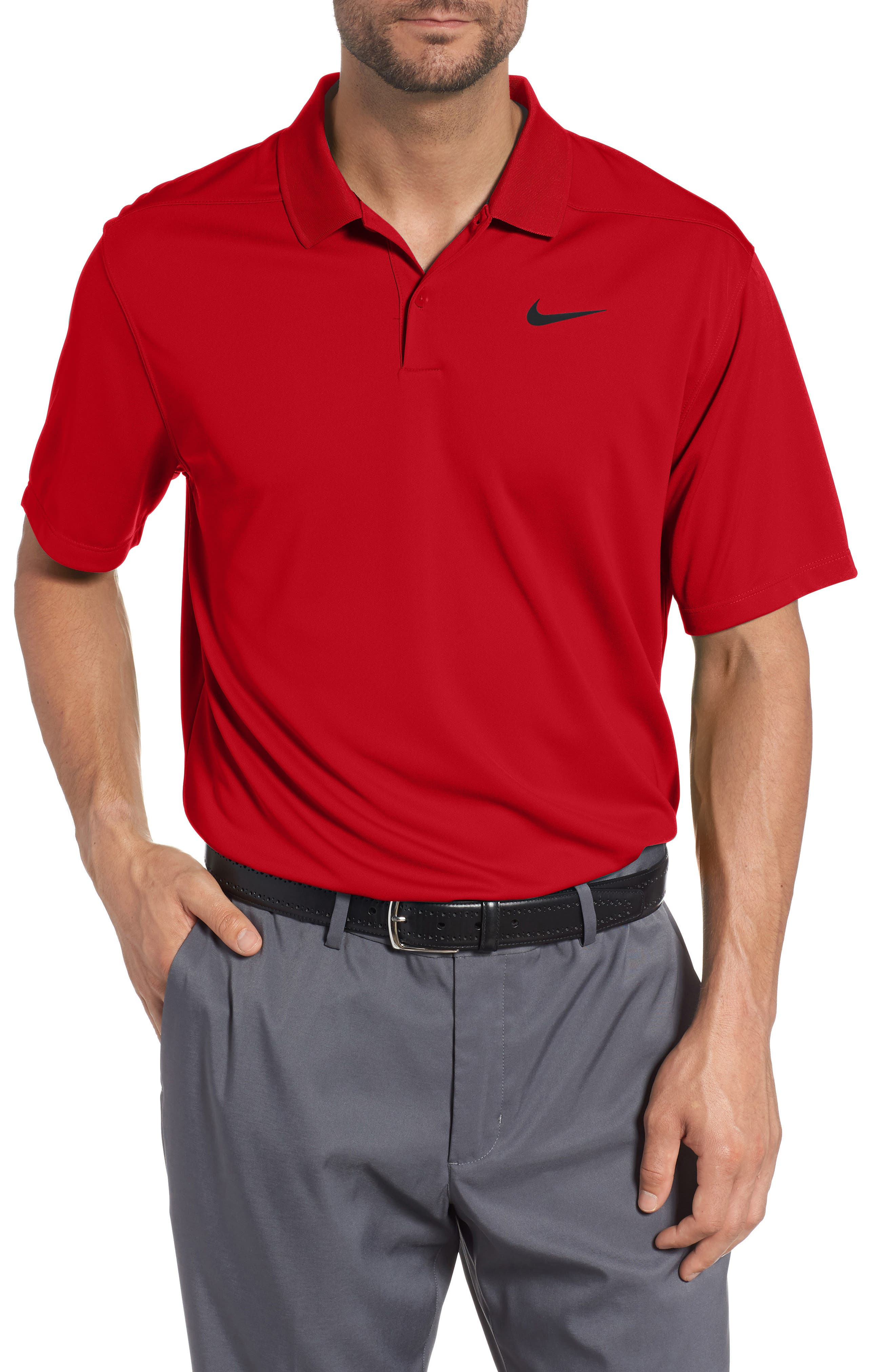 Dry Victory Golf Polo,                             Main thumbnail 1, color,                             UNIVERSITY RED/ BLACK