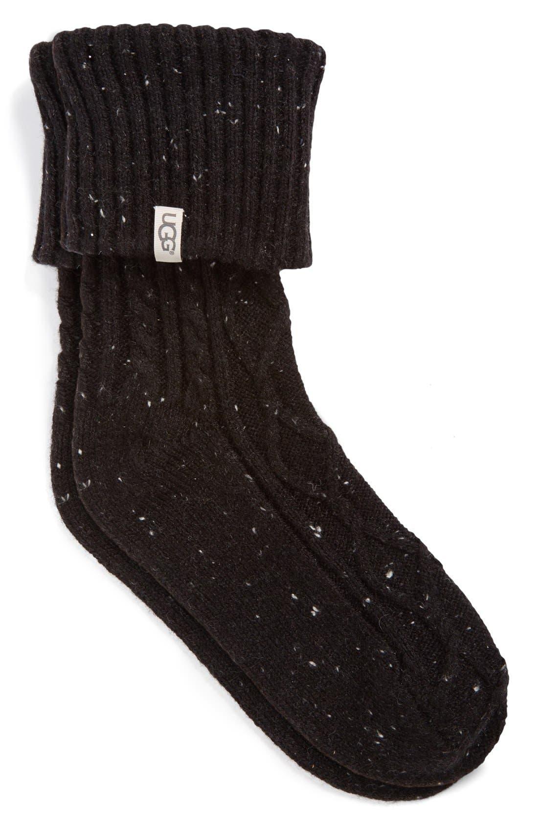 'Sienna' Short Boot Sock,                             Main thumbnail 1, color,                             001